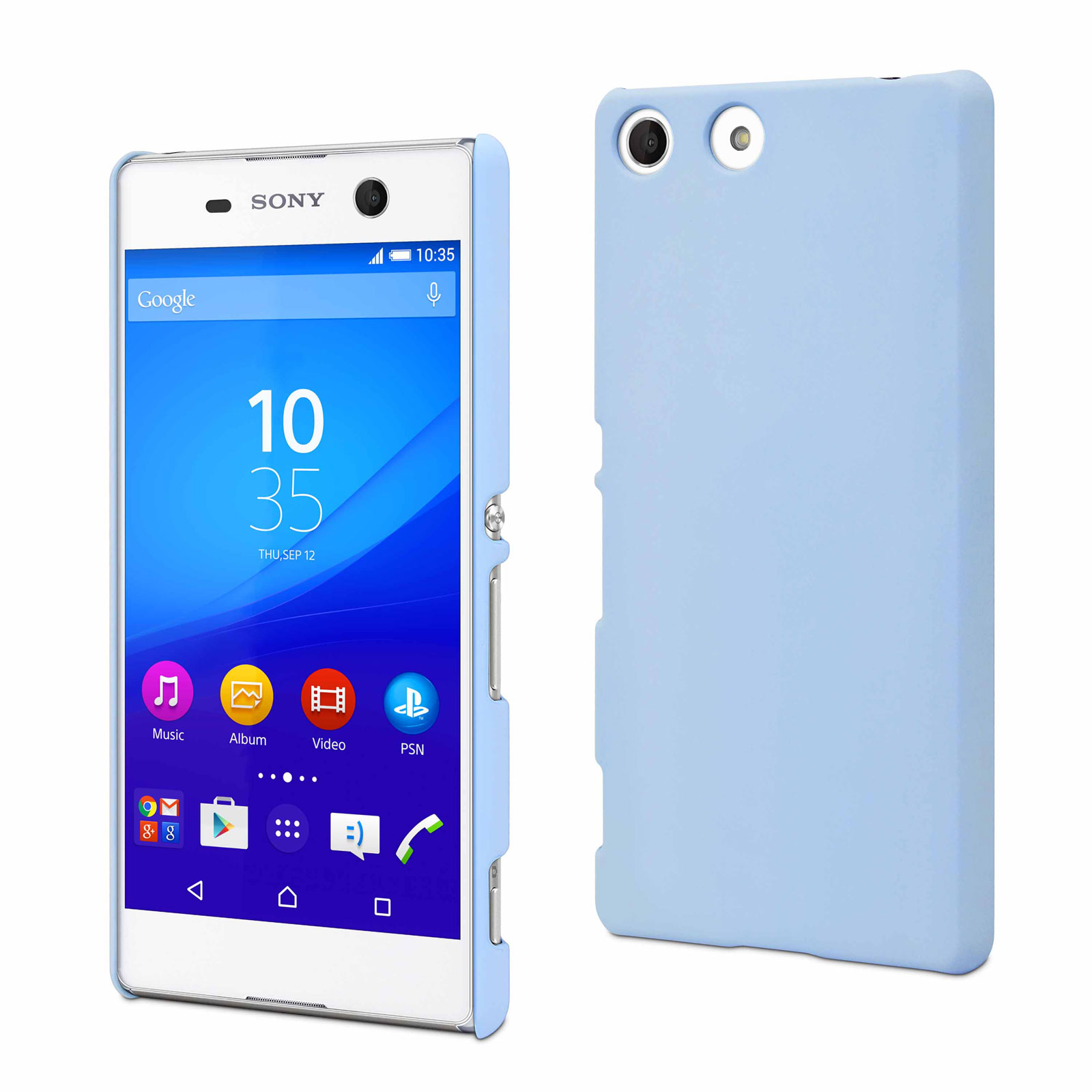 Made For Xperia Coque Arri 232 Re Rubber Bleu Sony Xperia M5