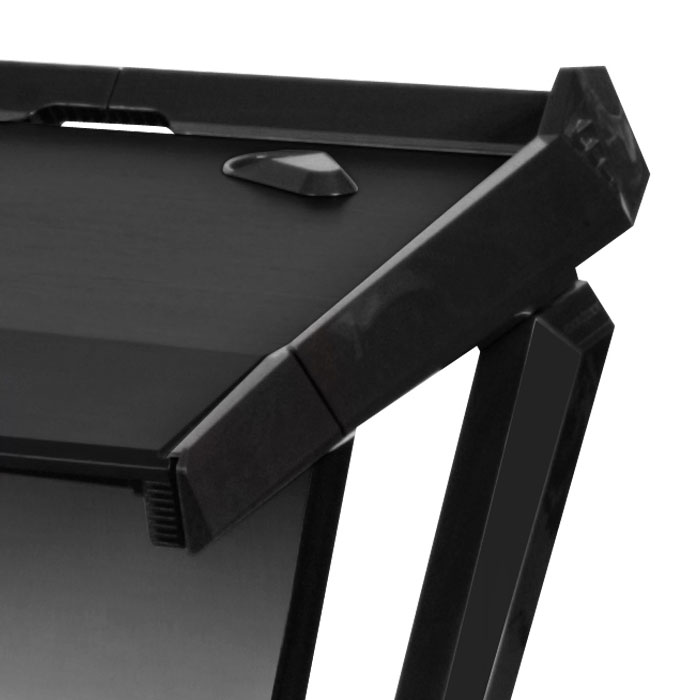Dxracer gaming desk noir gd 1000 n achat vente for Bureau gaming