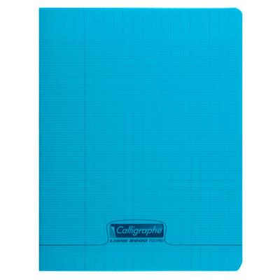 Cahier Calligraphe 8000 Polypro Cahier 96 pages 17 x 22 cm seyes grands carreaux Bleu Cahier 96 pages 90g A5+ en reliure piquée