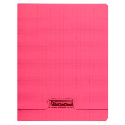Cahier Calligraphe 8000 Polypro Cahier 96 pages 17 x 22 cm seyes grands carreaux Rouge Cahier 96 pages 90g A5+ en reliure piquée avec couverture en polypropylène