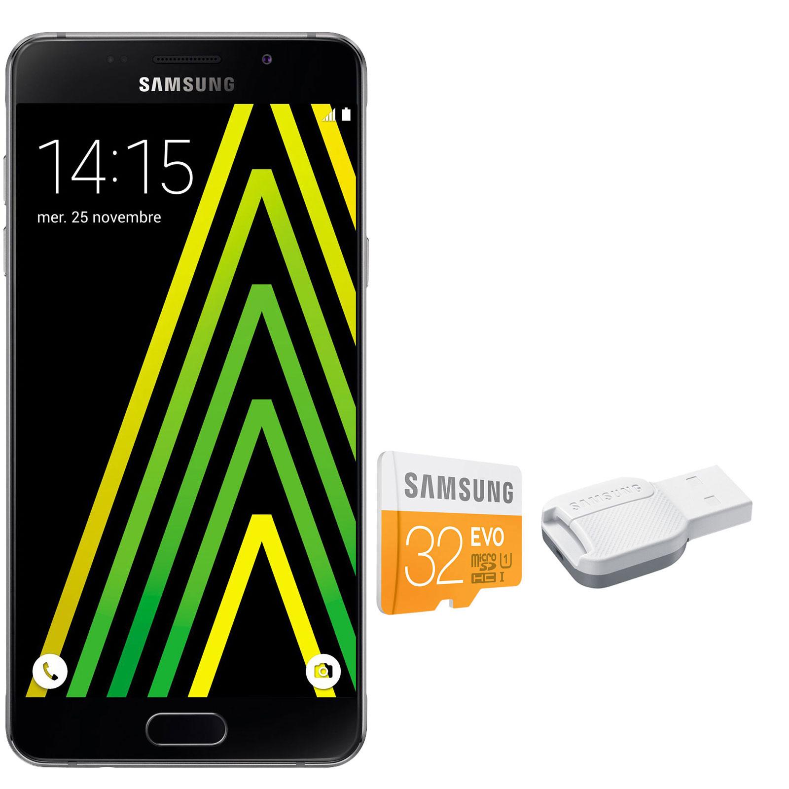 Samsung galaxy a5 2016 noir carte microsdhc 32 go for Photo ecran samsung a5