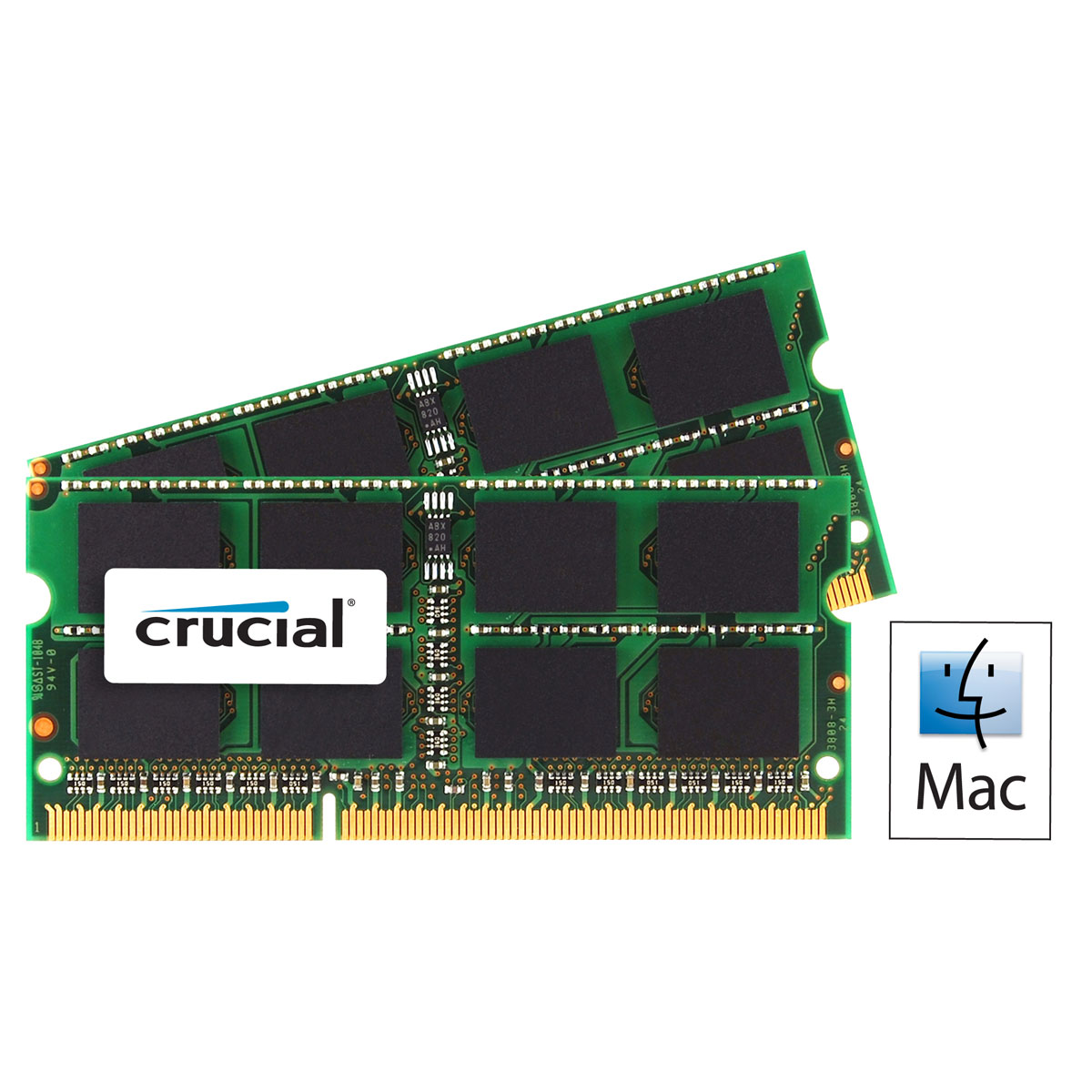 Mémoire PC Crucial for Mac SO-DIMM 8 Go (2 x 4 Go) DDR3L 1866 MHz CL13 Kit Dual Channel RAM SO-DIMM DDR3L PC14900 - CT2C4G3S186DJM (garantie à vie par Crucial)