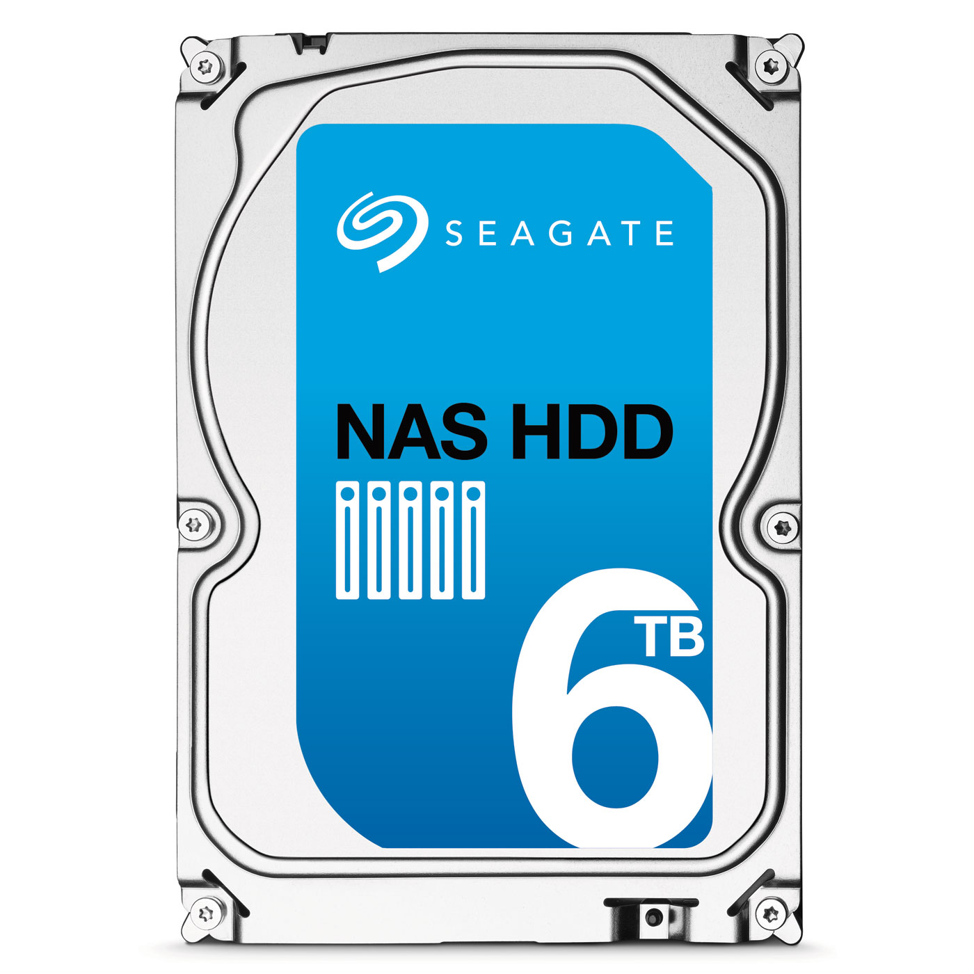 "Disque dur interne Seagate NAS HDD 6 To Disque dur 3.5"" 6 To 7200 RPM 128 Mo Serial ATA 6 Gb/s pour NAS"