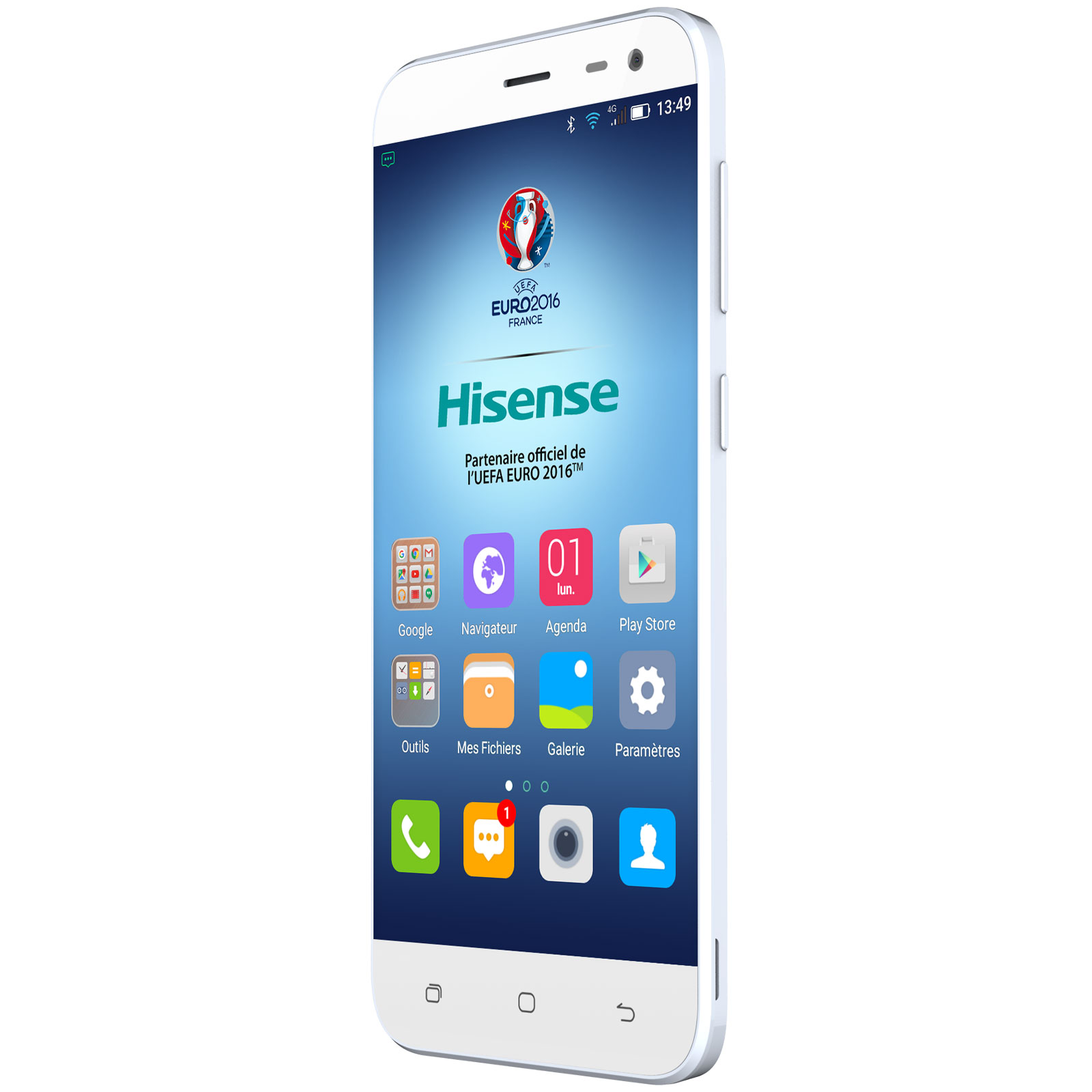 hisense d2 blanc mobile smartphone hisense sur ldlc. Black Bedroom Furniture Sets. Home Design Ideas