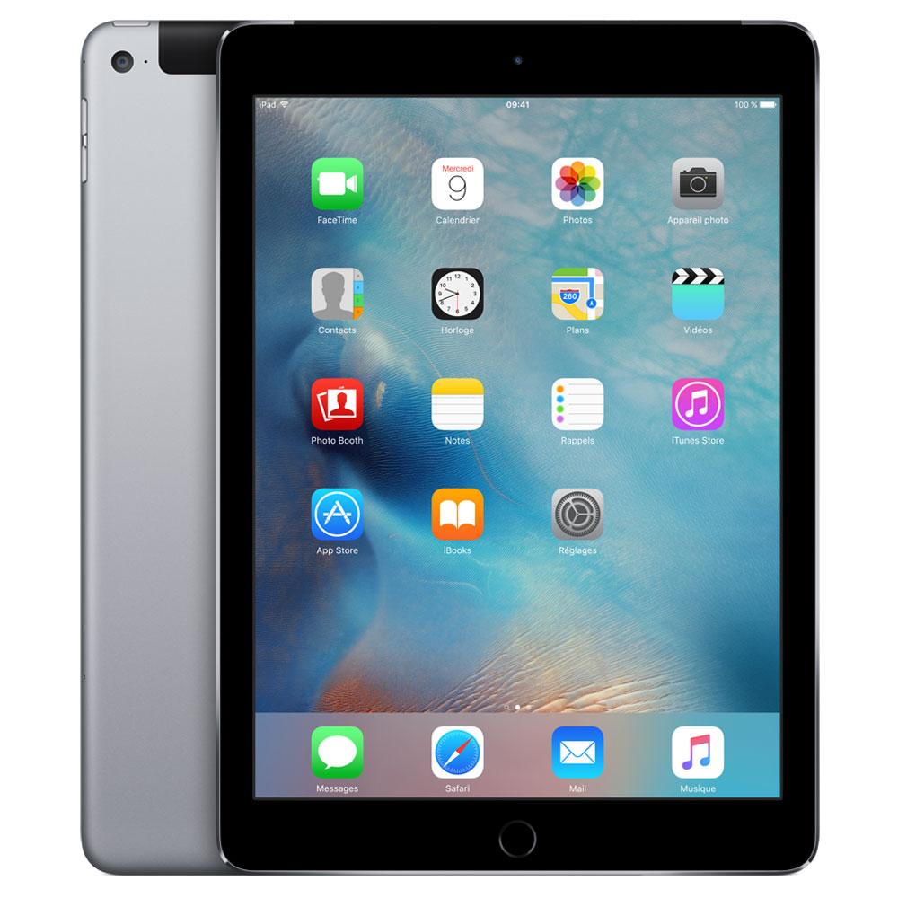 "Tablette tactile Apple iPad Air 2 16 Go Wi-Fi + Cellular Gris sidéral Tablette Internet 4G-LTE - Apple A8X 1.4 GHz 1 Go SSD 16 Go 9.7"" LED tactile Wi-Fi N/Bluetooth Webcam iOS 8"