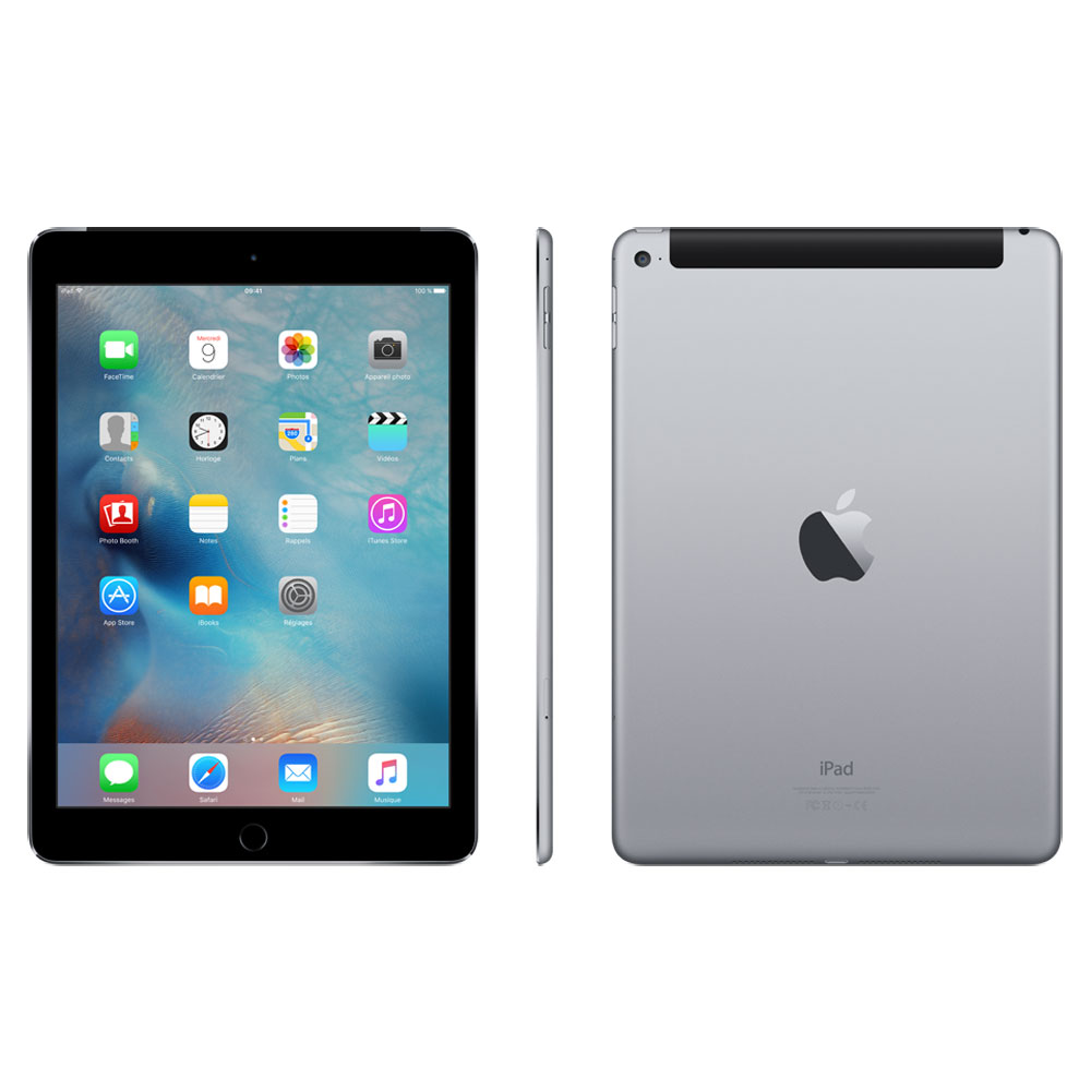 apple ipad air 2 64 go wi fi cellular gris sid ral mghx2nf a achat vente tablette. Black Bedroom Furniture Sets. Home Design Ideas
