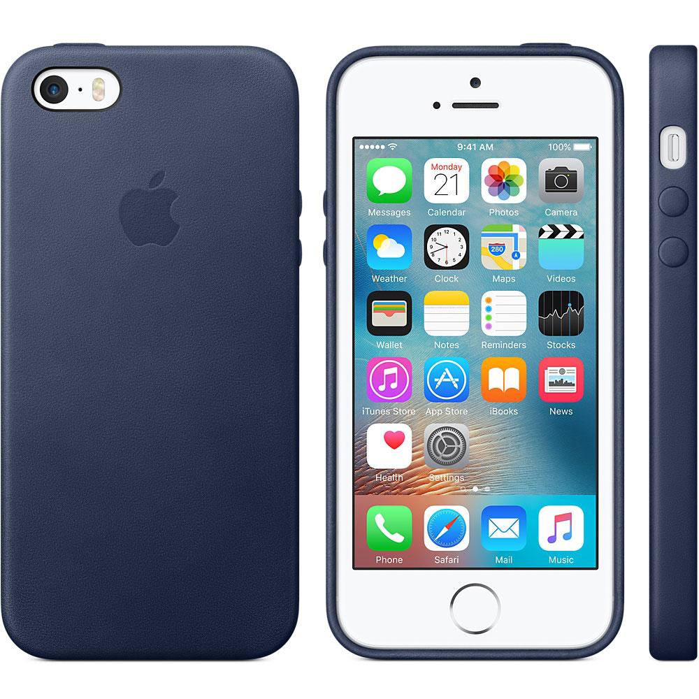 Etui téléphone Apple Coque en cuir Bleu Apple iPhone SE Coque en cuir pour Apple iPhone 6 SE