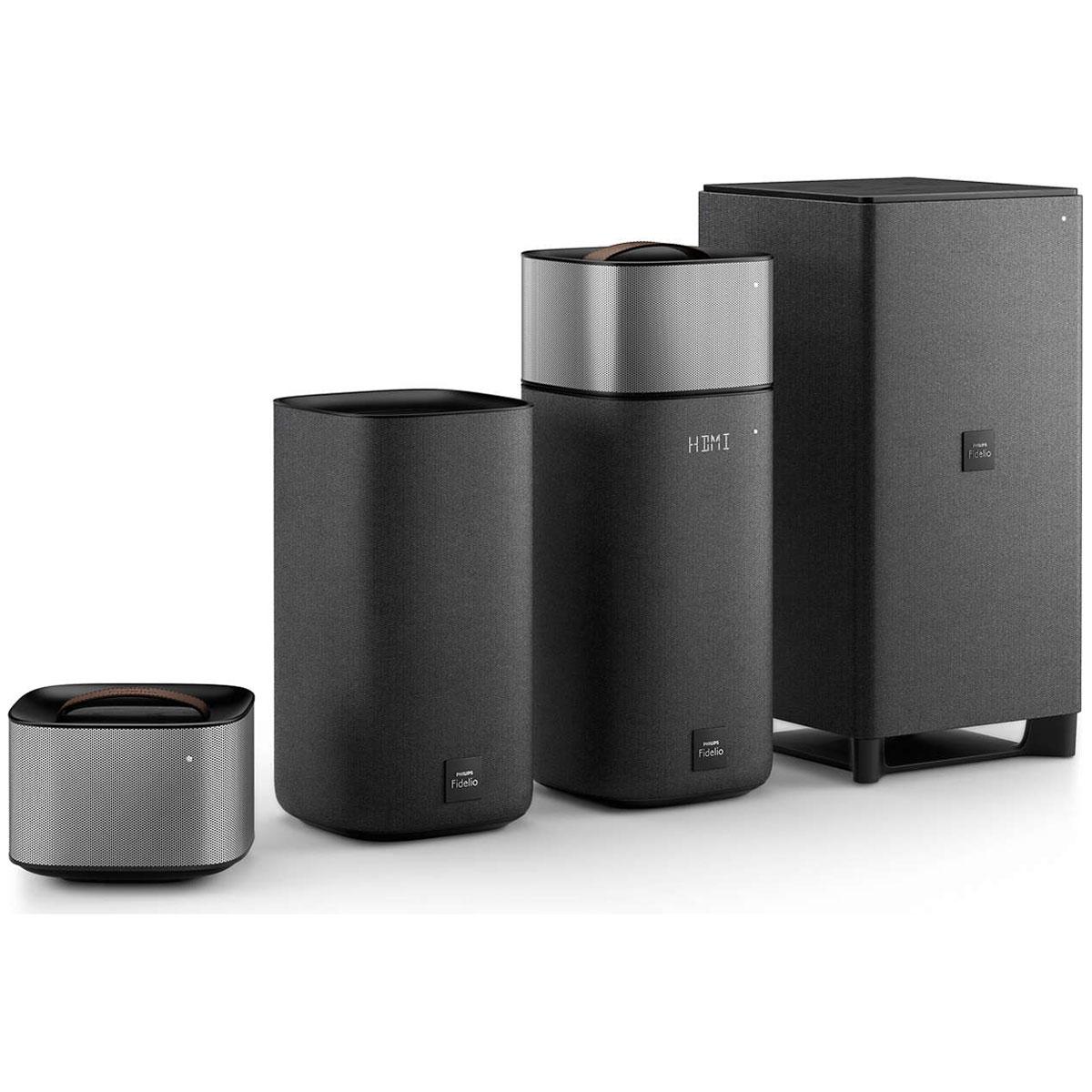 Ensemble home cinéma Philips Fidelio E6 Ensemble home cinéma sans fil 5.1 Dolby Digital/Pro Logic II avec Bluetooth/NFC Google Cast et Spotify Connect