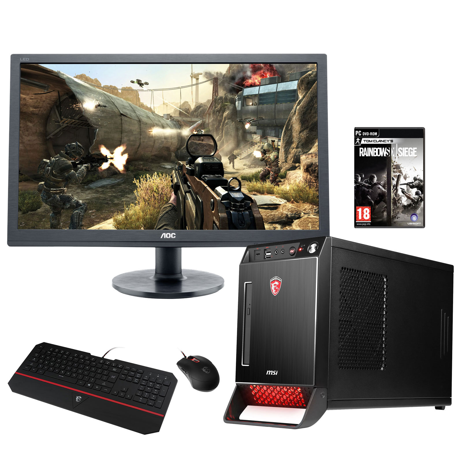 msi nightblade x2 084eu cran aoc g2460fq clavier msi ds4100 souris msi ds100 jeu. Black Bedroom Furniture Sets. Home Design Ideas