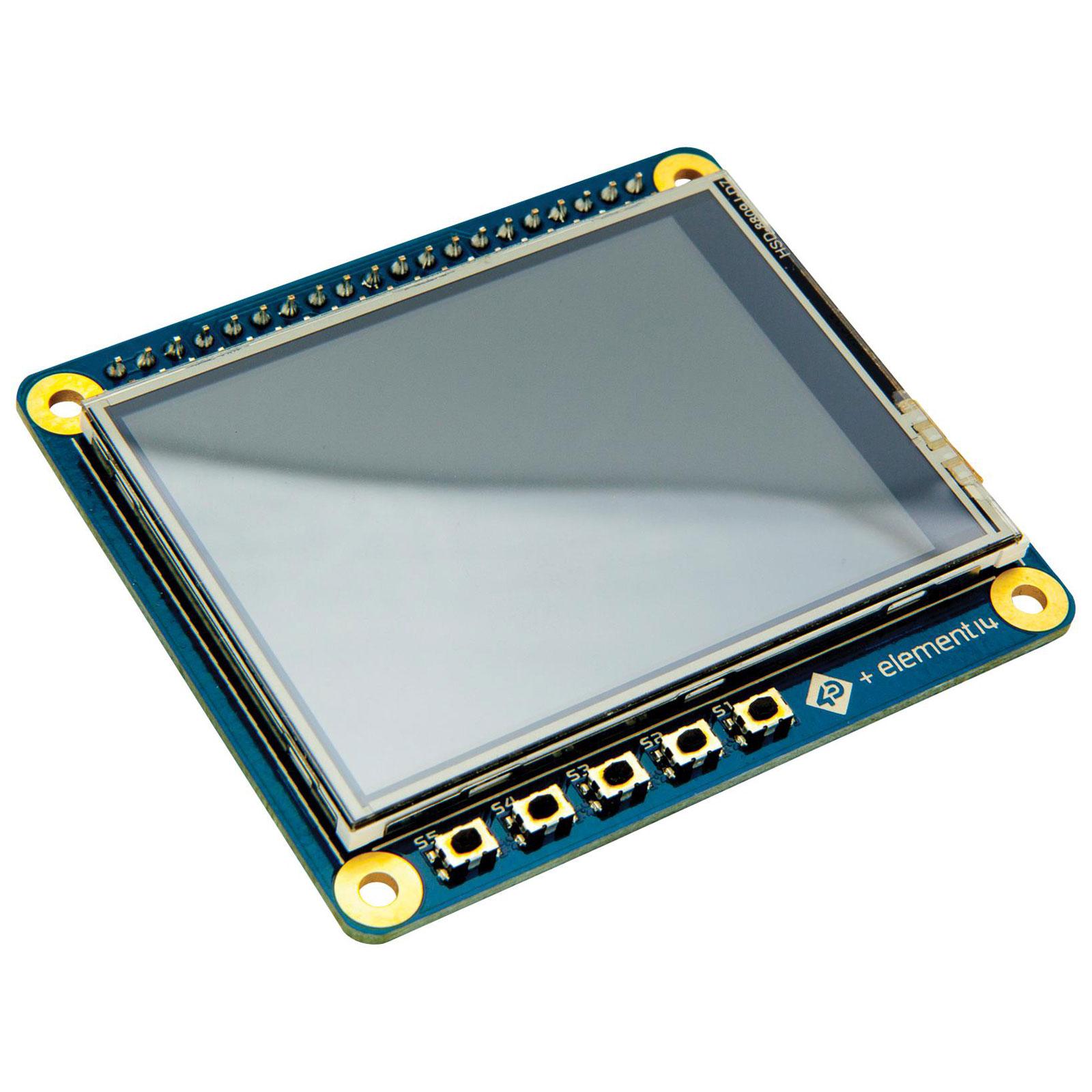 Ecran PC 4D Systems HAT Display for Raspberry Pi Ecran tactile 2.4'' 240 x 320 pixels (compatible Raspberry Pi)