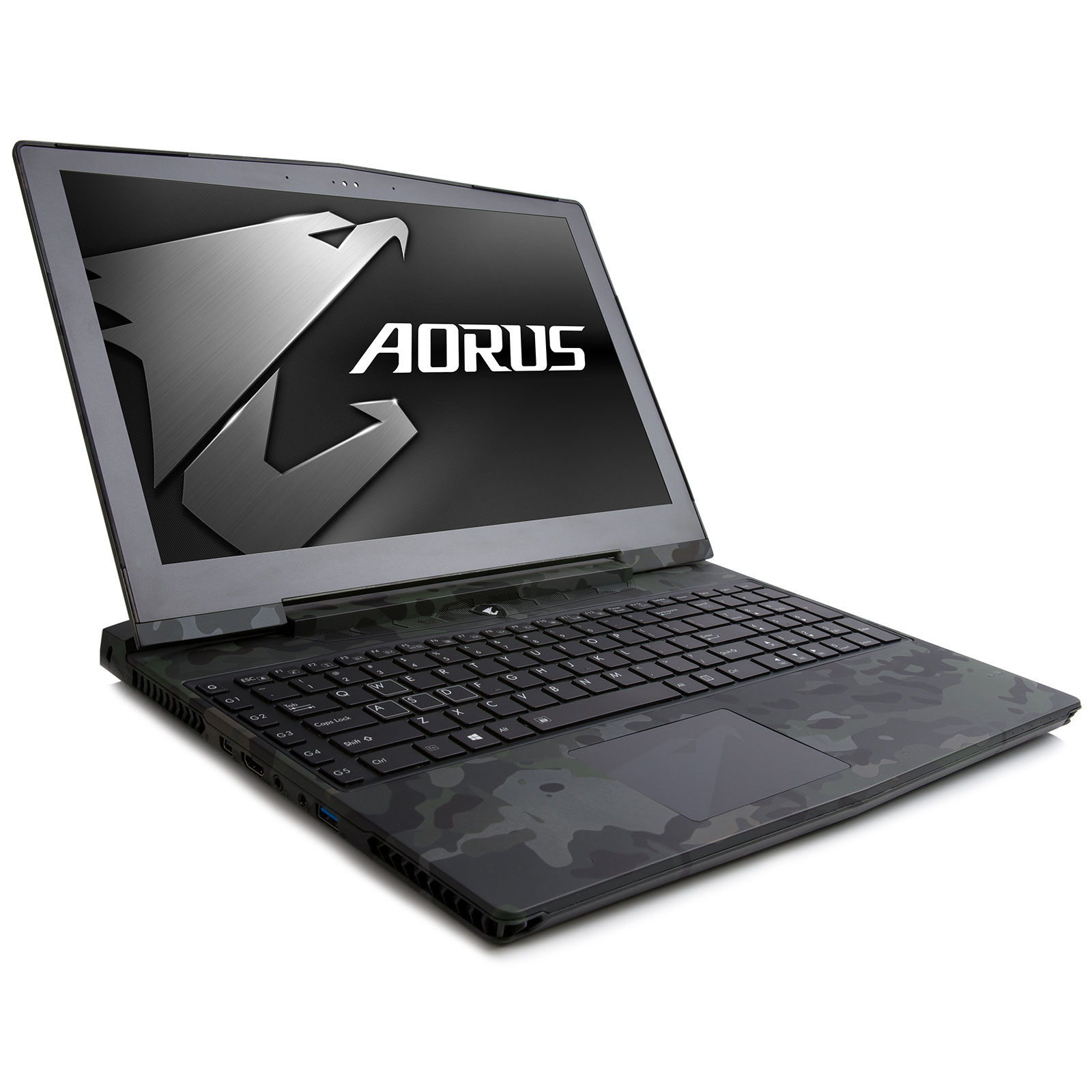 "PC portable AORUS X5S v5 KAMW10-FR Edition limitée Camouflage Intel Core i7-6700HQ 16 Go SSD 256 Go + HDD 1 To 15.6"" LED Ultra HD NVIDIA GeForce GTX 980M Wi-Fi AC/Bluetooth Webcam Windows 10 Famille 64 bits"