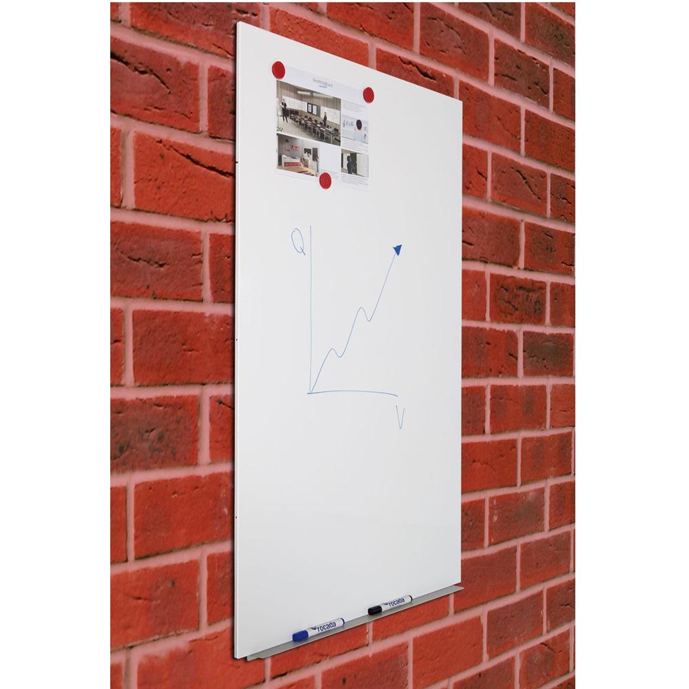 Rocada tableau blanc m tallique 98 x 148 cm tableau blanc et paperboard roc - Tableau metallique ikea ...