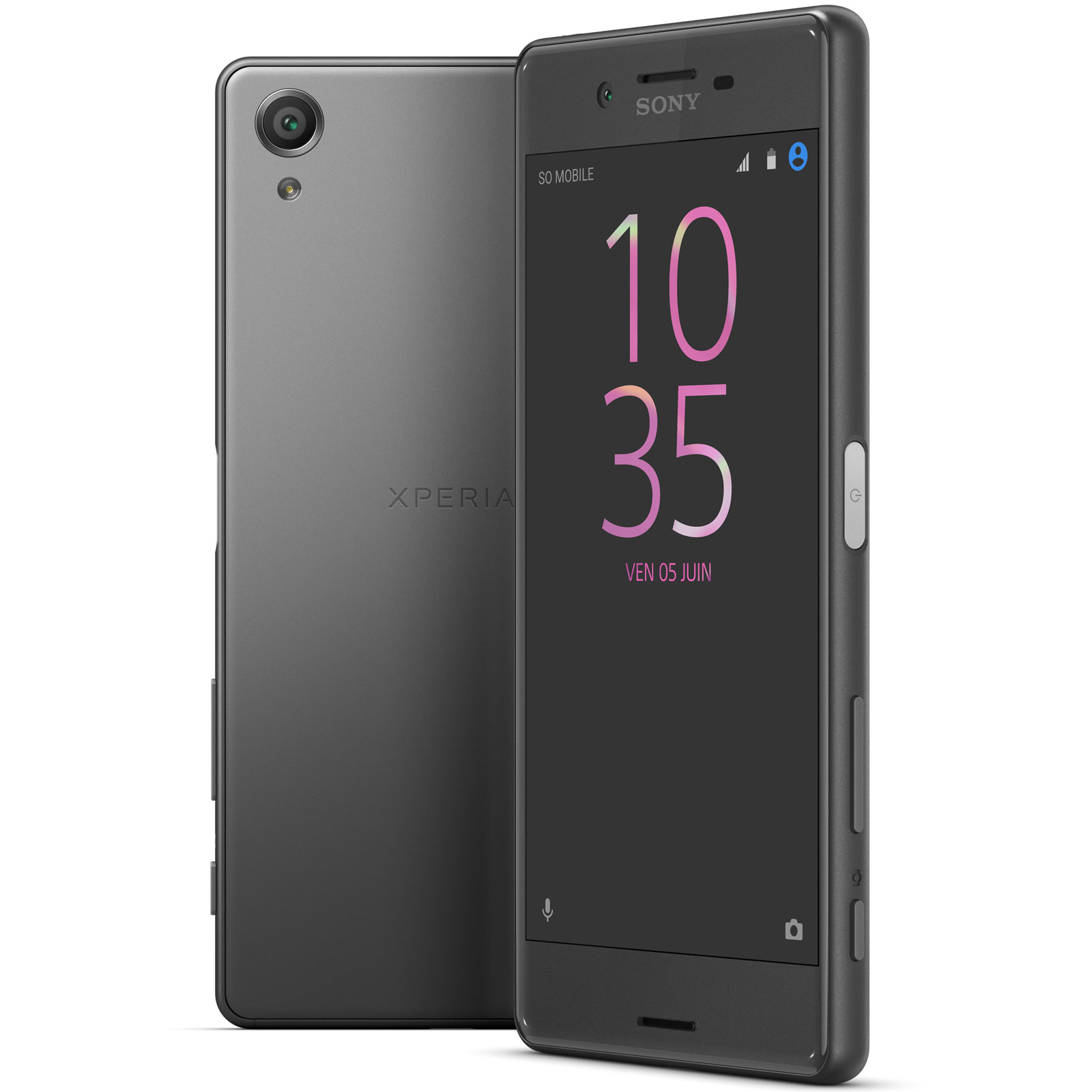 sony xperia x dual sim 64 go noir mobile smartphone. Black Bedroom Furniture Sets. Home Design Ideas