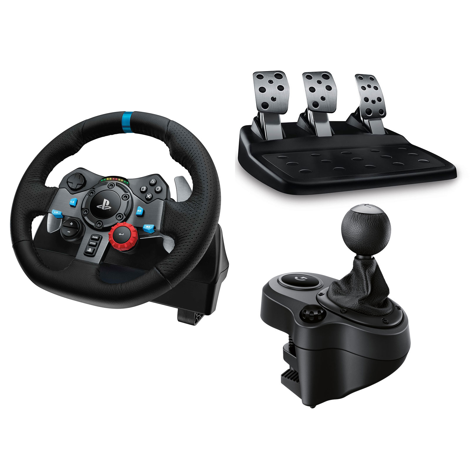 logitech g29 driving force driving force shifter volant pc logitech sur ldlc. Black Bedroom Furniture Sets. Home Design Ideas