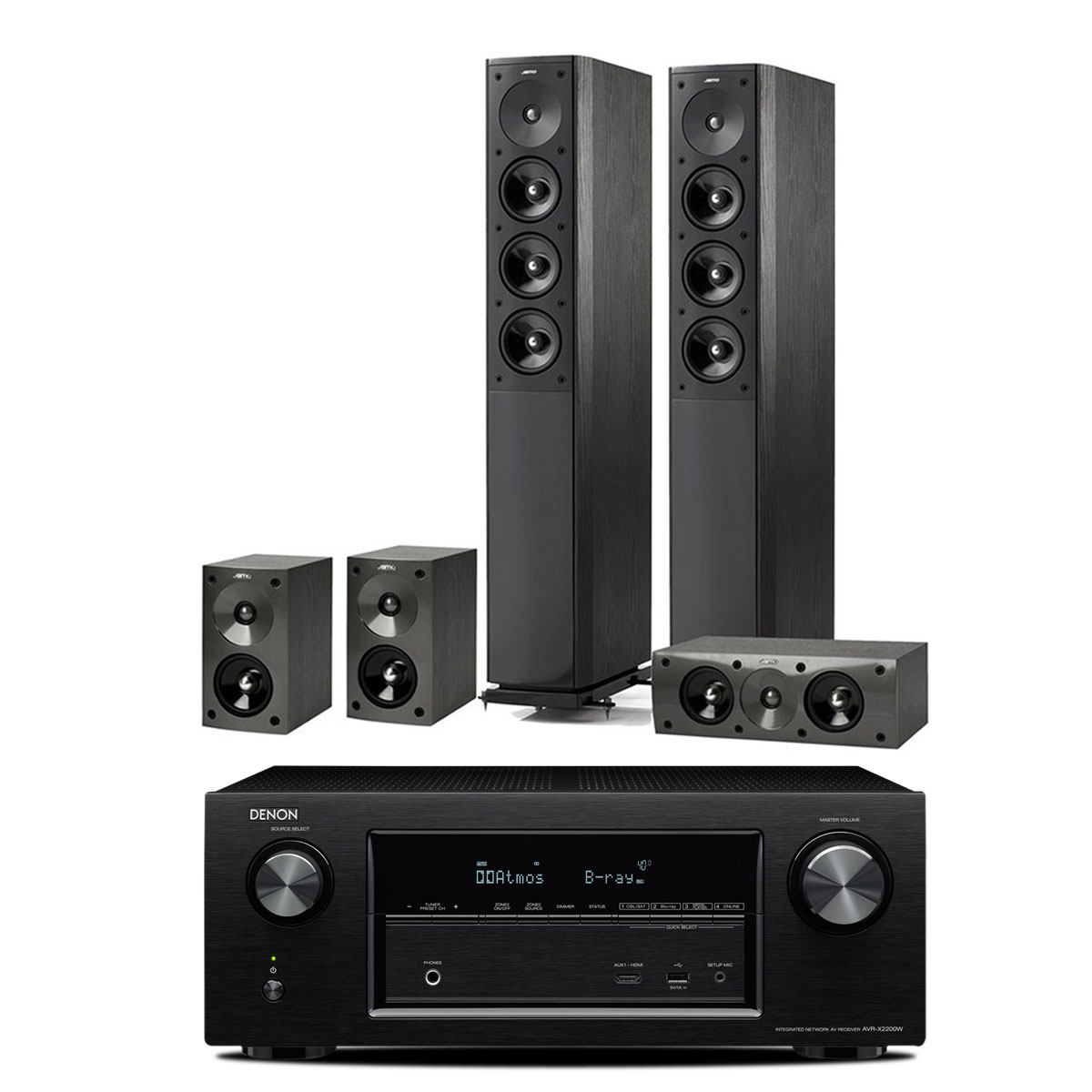 denon avr x2200w noir jamo s 608 hcs 3 black ash ensemble home cin ma denon sur ldlc. Black Bedroom Furniture Sets. Home Design Ideas