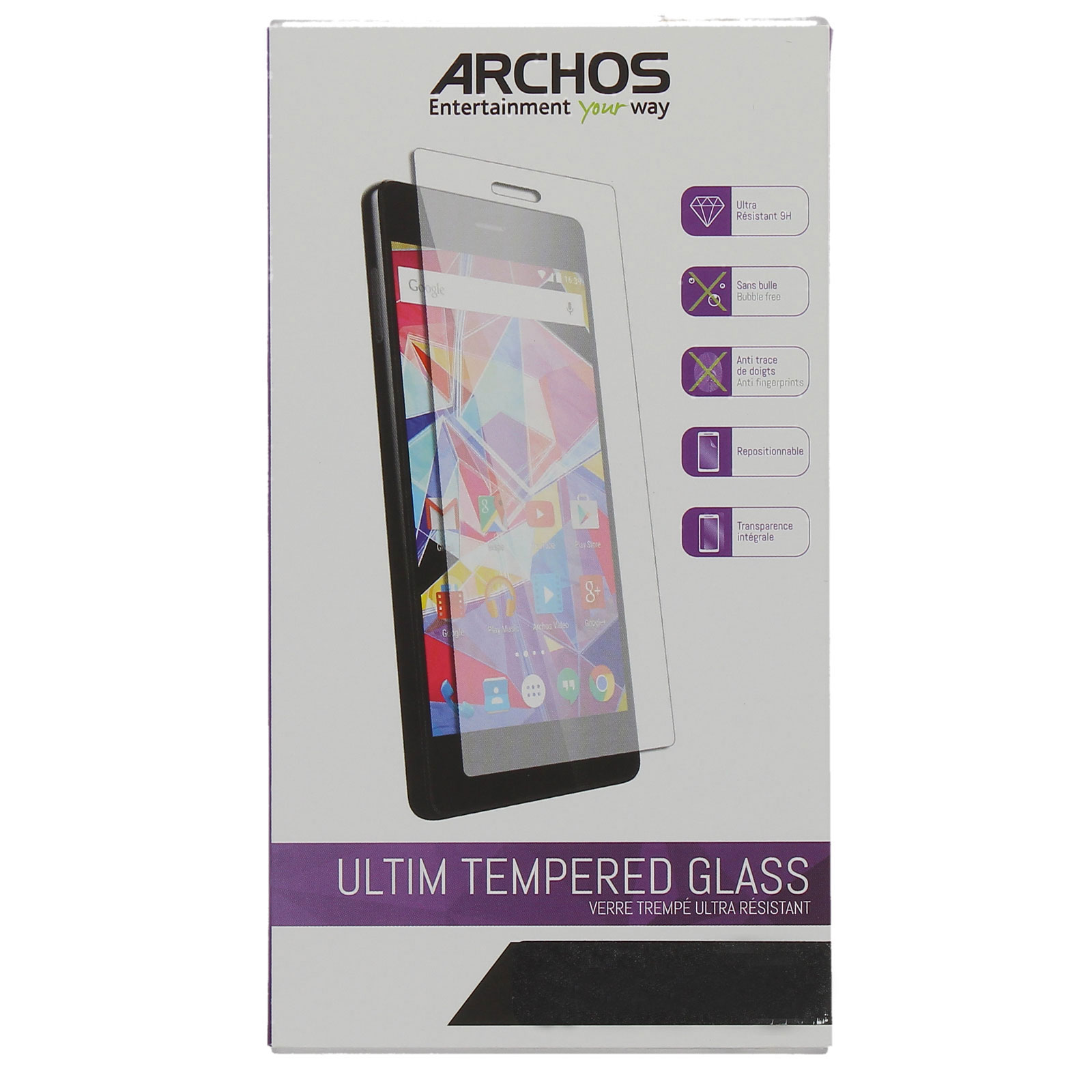 archos verre tremp archos 55 helium plus auar55helpvt achat vente film protecteur. Black Bedroom Furniture Sets. Home Design Ideas