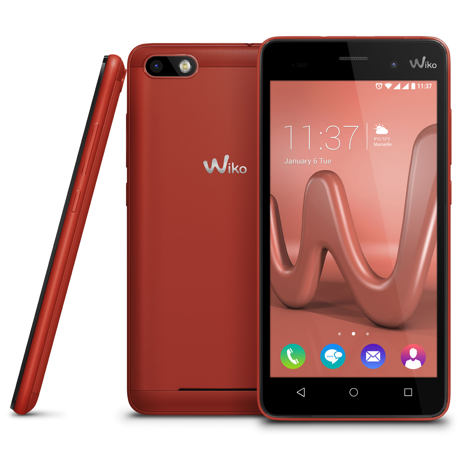 wiko lenny 3 rouge lenny 3 ls cinnabar achat vente mobile smartphone sur. Black Bedroom Furniture Sets. Home Design Ideas