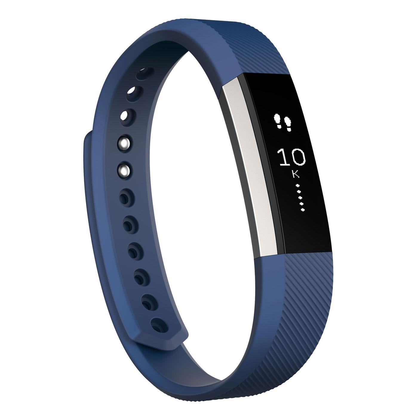 Coach électronique Fitbit Alta Bleu L Coach électronique sans fil amovible résistant à l'eau pour smartphone iOS / Android / Windows