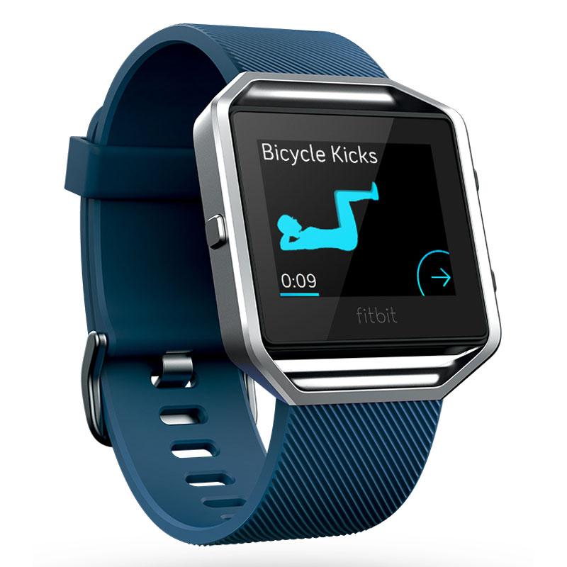 Coach électronique Fitbit Blaze Bleu S Montre de fitness sans fil résistant à l'eau pour smartphone iOS / Android / Windows