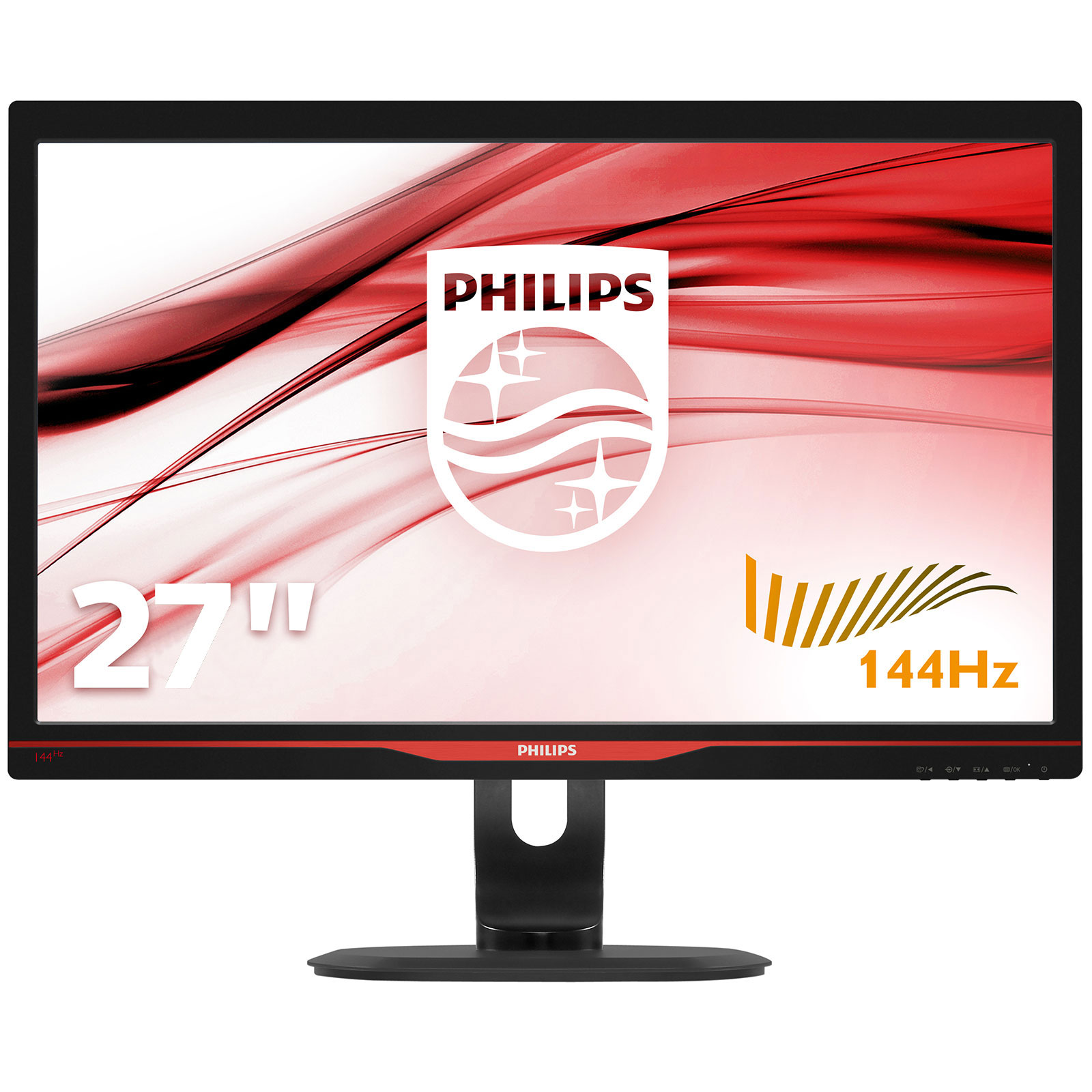"""Ecran PC Philips 27"""" LED - 272G5DJEB 1920 x 1080 pixels - 1 ms (gris à gris) - Format large 16/9 - 144 Hz - DisplayPort - HDMI - Pivot - Hub USB 3.0 - Noir"""