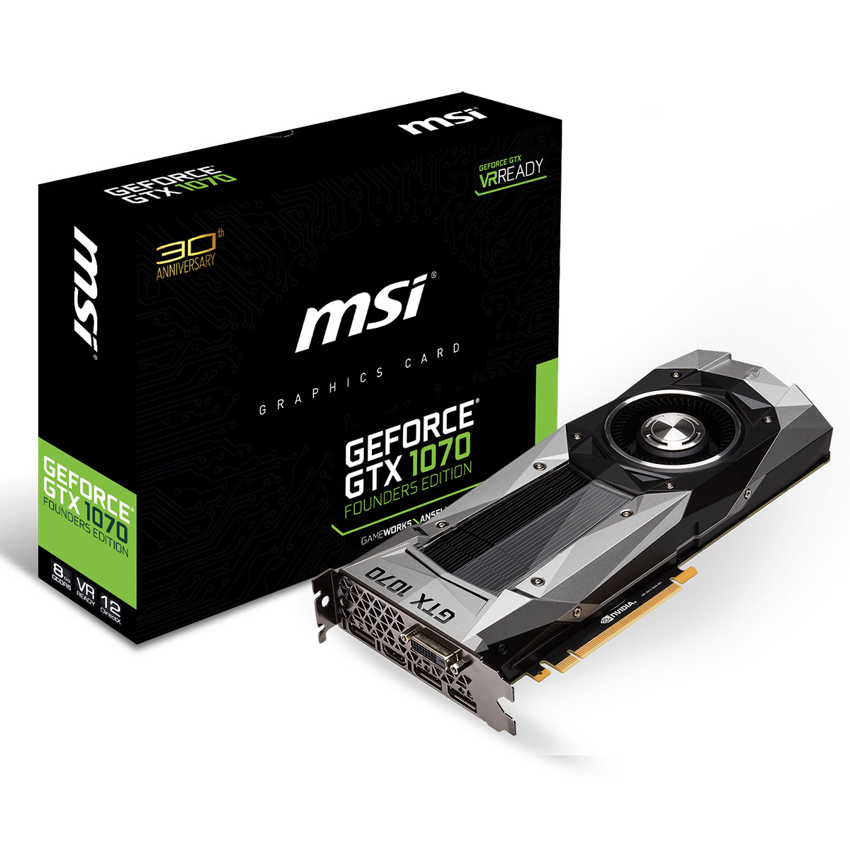 msi geforce gtx 1070 founders edition carte graphique msi sur ldlc. Black Bedroom Furniture Sets. Home Design Ideas
