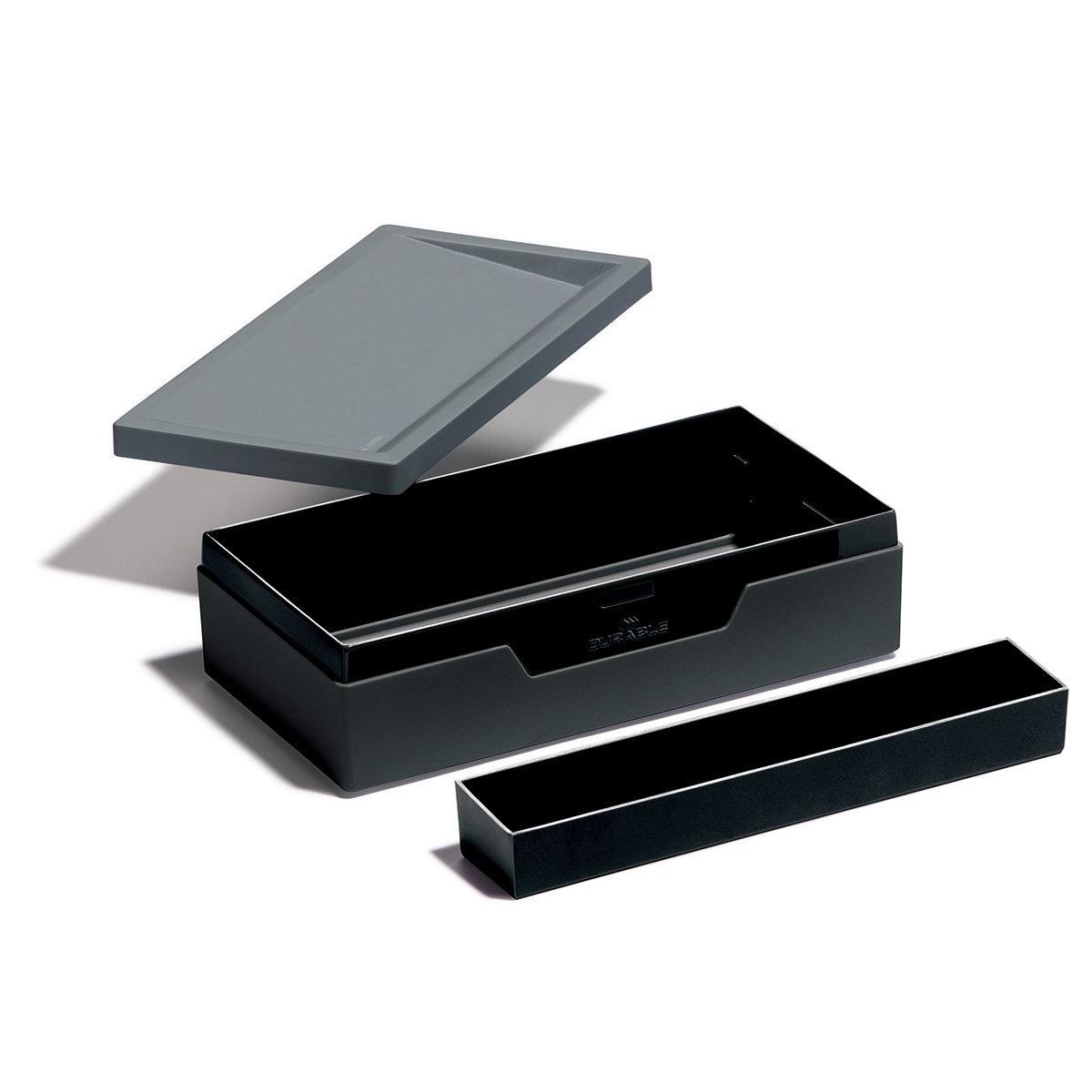 Durable boite de rangement varicolor noir bo te de - Boite de rangement a compartiment ...
