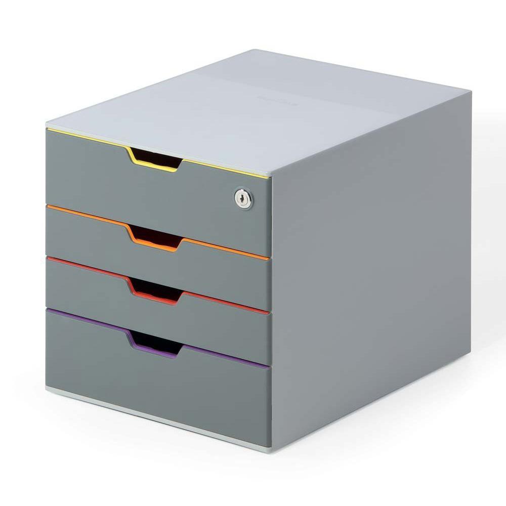 durable module de classement varicolor safe 4 tiroirs 7606 27 module de classement durable sur. Black Bedroom Furniture Sets. Home Design Ideas