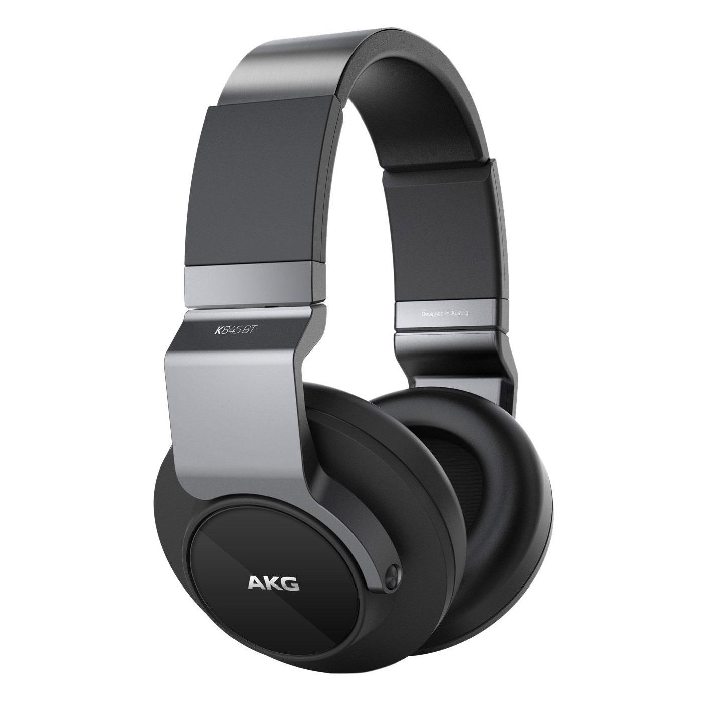 Casque AKG K845BT Noir Casque supra-auriculaire sans fil Bluetooth avec microphone