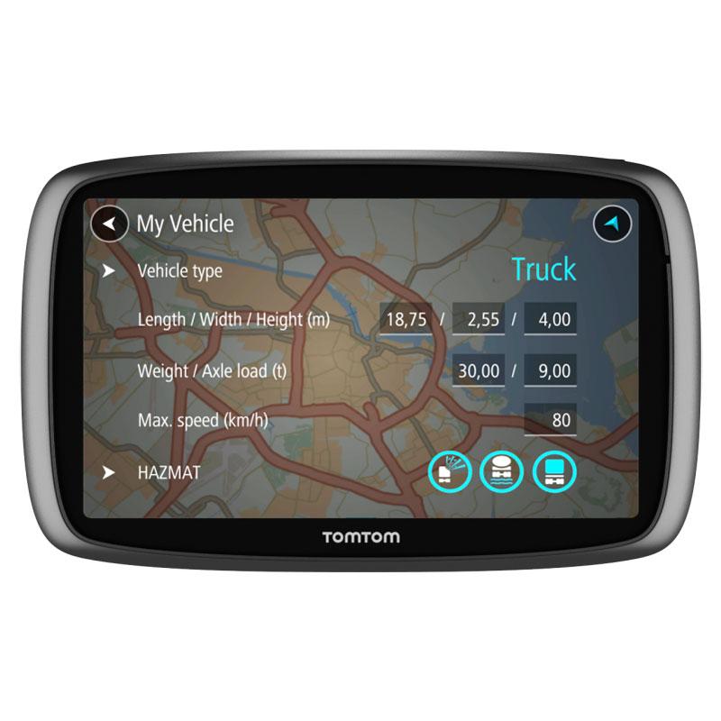 """GPS TomTom Trucker 6000 Lifetime Edition GPS 45 pays d'Europe Ecran 6"""" avec cartographie et TomTom Traffic à vie"""