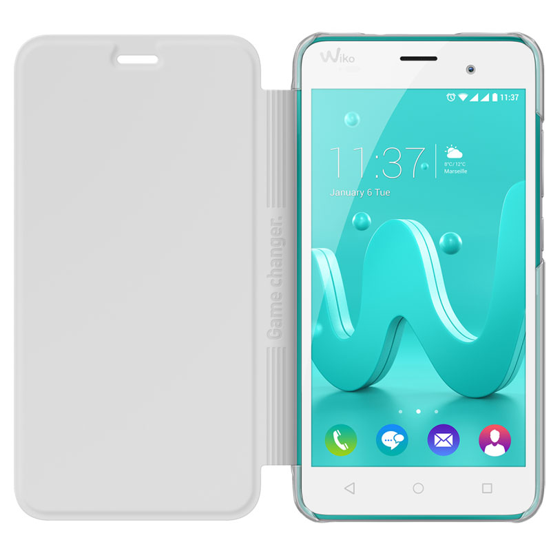Wiko Folio Game Changer Blanc Wiko Jerry Etui T 233 L 233 Phone