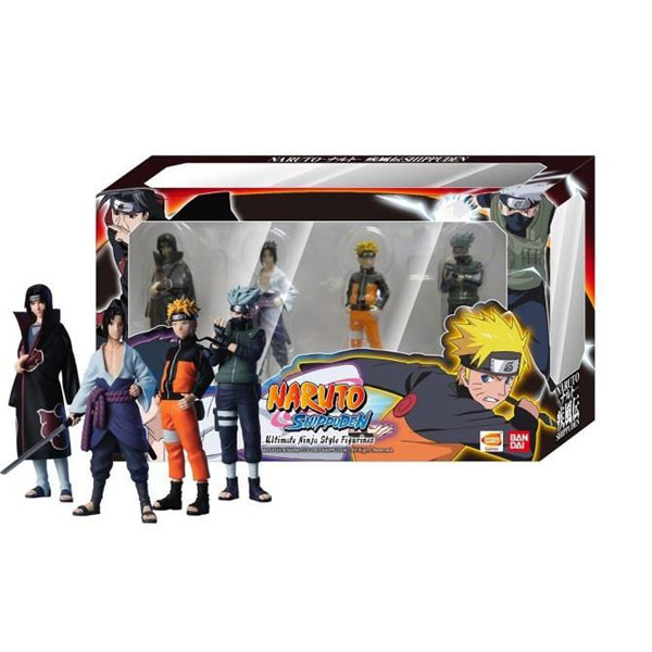 Jeux et Accessoires Namco Bandai Naruto Shippuden Pack de 4 figurines Naruto Ultimate