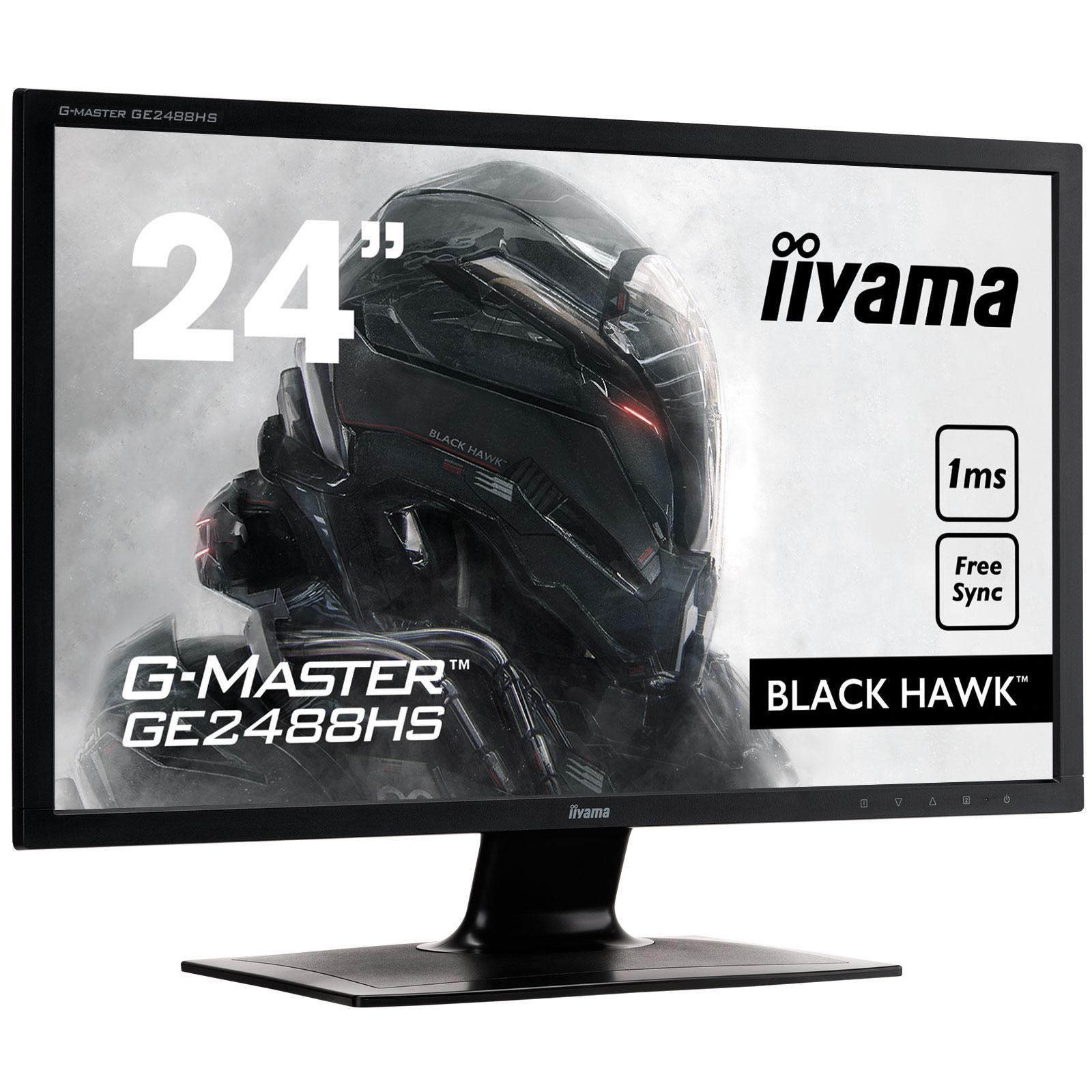 iiyama 24 led g master ge2488hs b2 black hawk ecran. Black Bedroom Furniture Sets. Home Design Ideas