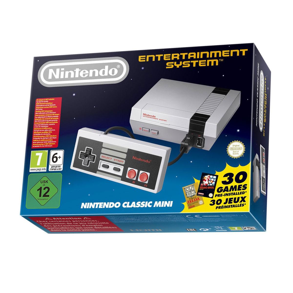 Petites consoles Nintendo Classic Mini NES Console Mini NES avec 30 jeux préinstallés