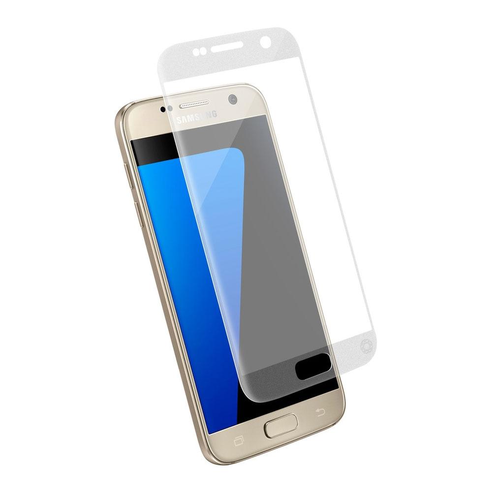 Film protecteur téléphone Force Glass Verre Trempé Galaxy S7 blanc/or Protège-écran en verre trempé pour Samsung Galaxy S7 blanc et or