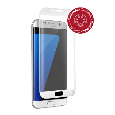 Film protecteur téléphone Force Glass Verre Trempé contour blanc Galaxy S7 Edge Protège-écran contour blanc en verre trempé pour Samsung Galaxy S7 Edge