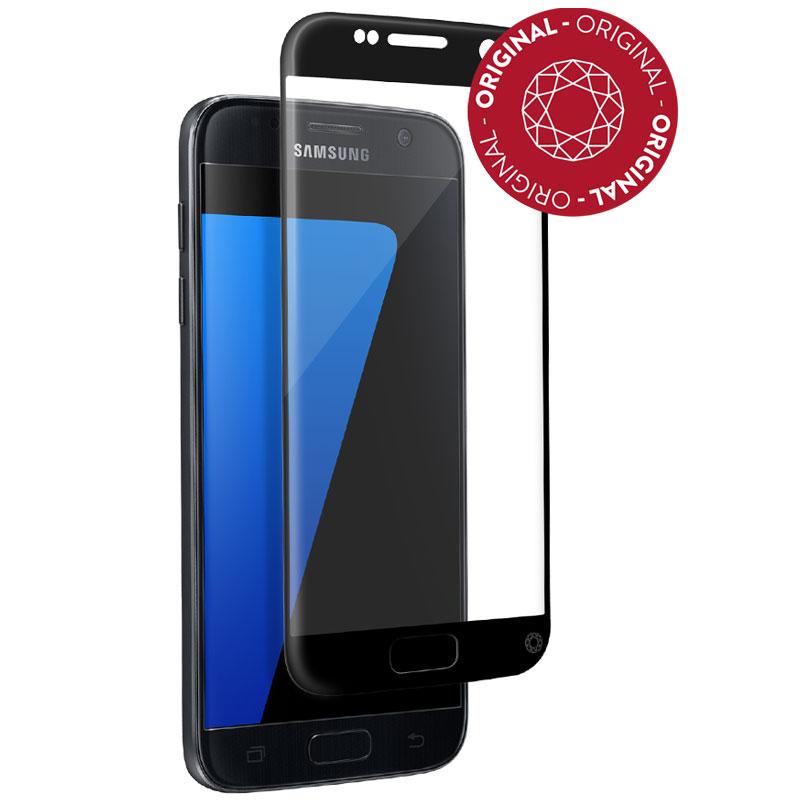 Film protecteur téléphone Force Glass Verre Trempé contour noir Galaxy S7 Protège-écran contour noir en verre trempé pour Samsung Galaxy S7