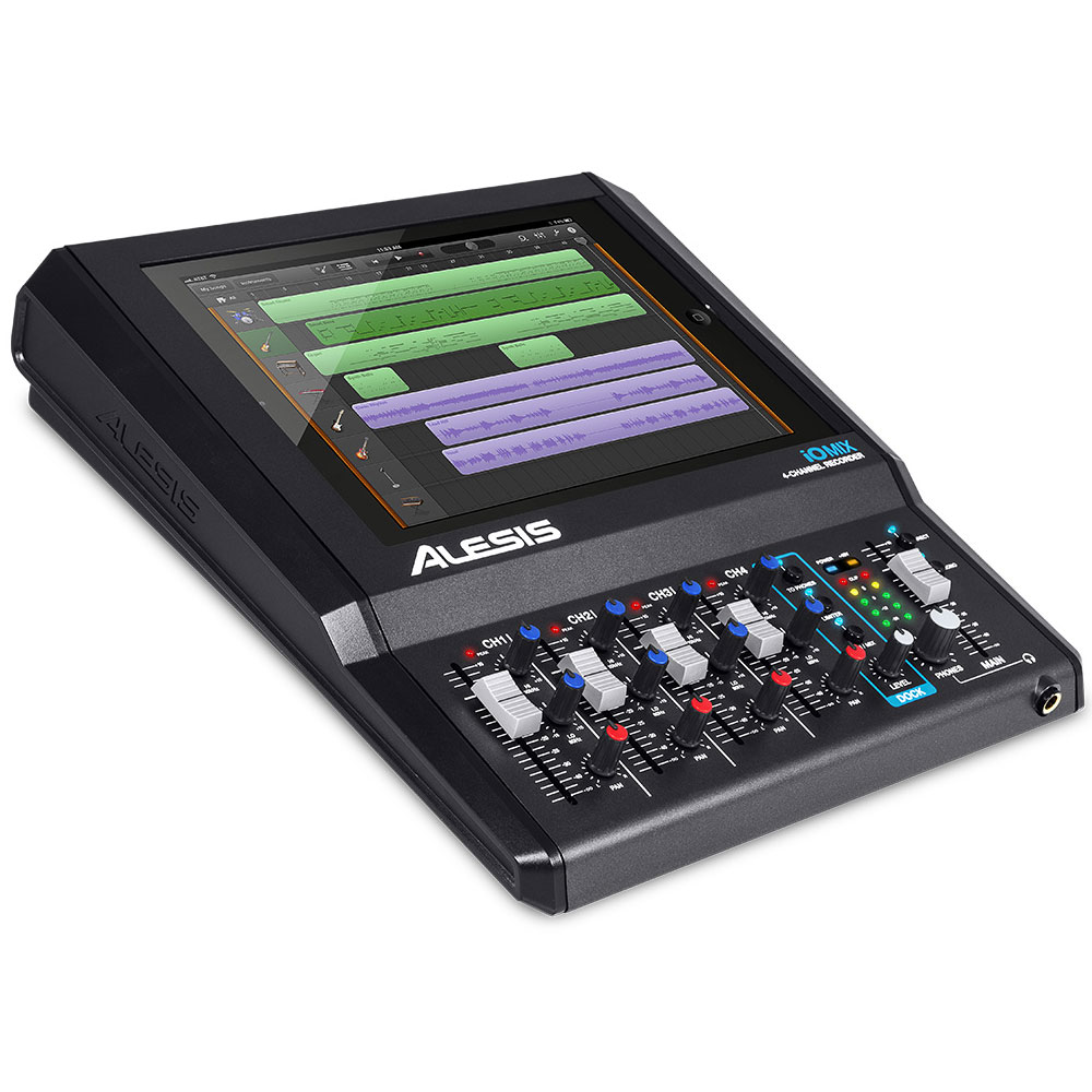Alesis io mix 0694318014172 achat vente table de - Table de mixage avec carte son integree ...