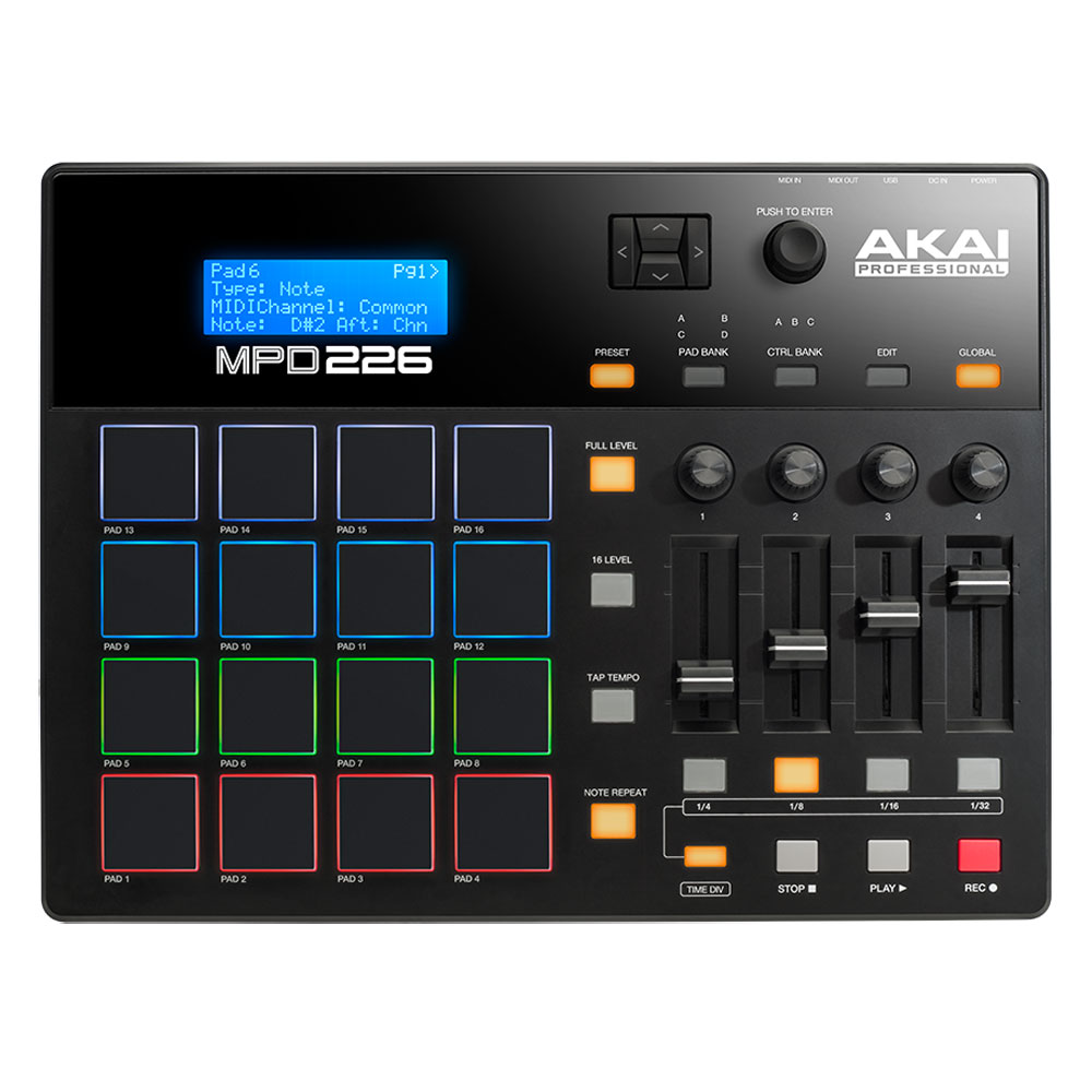 akai pro mpd226 table de mixage akai professional sur ldlc. Black Bedroom Furniture Sets. Home Design Ideas