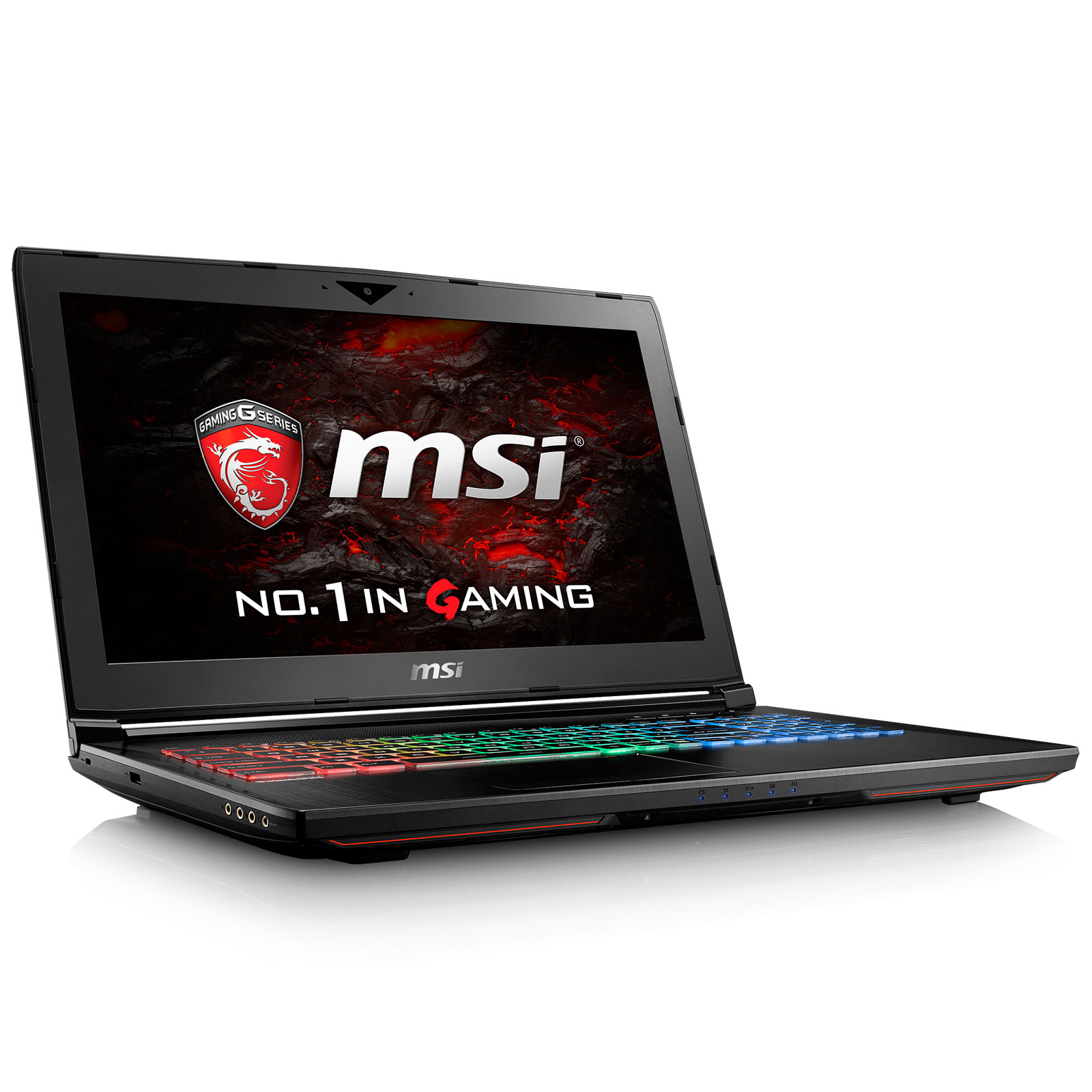 "PC portable MSI GT62VR 6RE-083FR Dominator Pro Intel Core i7-6700HQ 16 Go SSD 256 Go + HDD 1 To 15.6"" LED Full HD G-SYNC NVIDIA GeForce GTX 1070 Wi-Fi AC/Bluetooth Webcam Windows 10 Famille 64 bits (garantie constructeur 2 ans)"