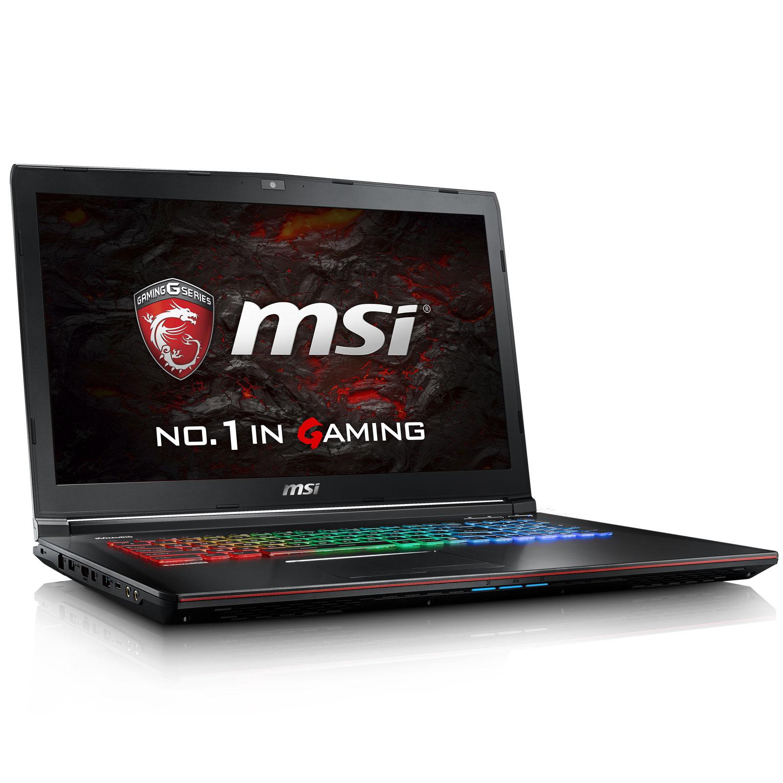 "PC portable MSI GE72VR 6RF-235XFR Apache Pro Intel Core i7-6700HQ 16 Go SSD 512 Go + HDD 1 To 17.3"" LED Full HD 120 Hz NVIDIA GeForce GTX 1060 3 Go Graveur DVD Wi-Fi AC/Bluetooth Webcam Free DOS (garantie constructeur 2 ans)"