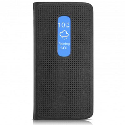 Etui téléphone Alcatel Matrix Flip Case Noir Alcatel Idol 4S Etui folio pour Alcatel Idol 4S