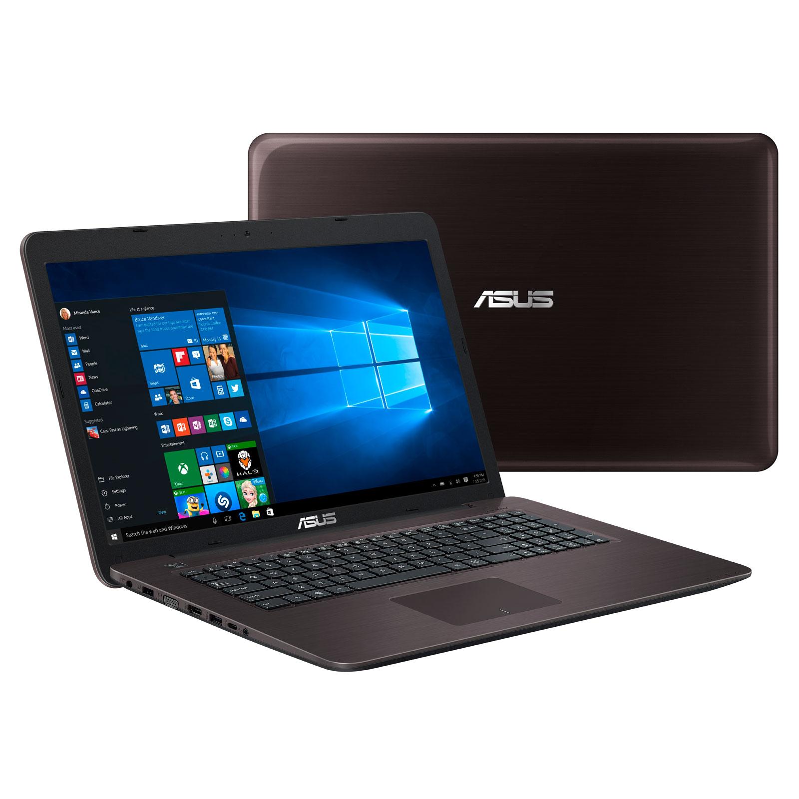 """PC portable ASUS X756UA-TY289T Intel Core i5-7200U 4 Go 1 To 17.3"""" LED HD+ Graveur DVD Wi-Fi AC/Bluetooth Webcam Windows 10 Famille 64 bits (Garantie constructeur 2 ans)"""