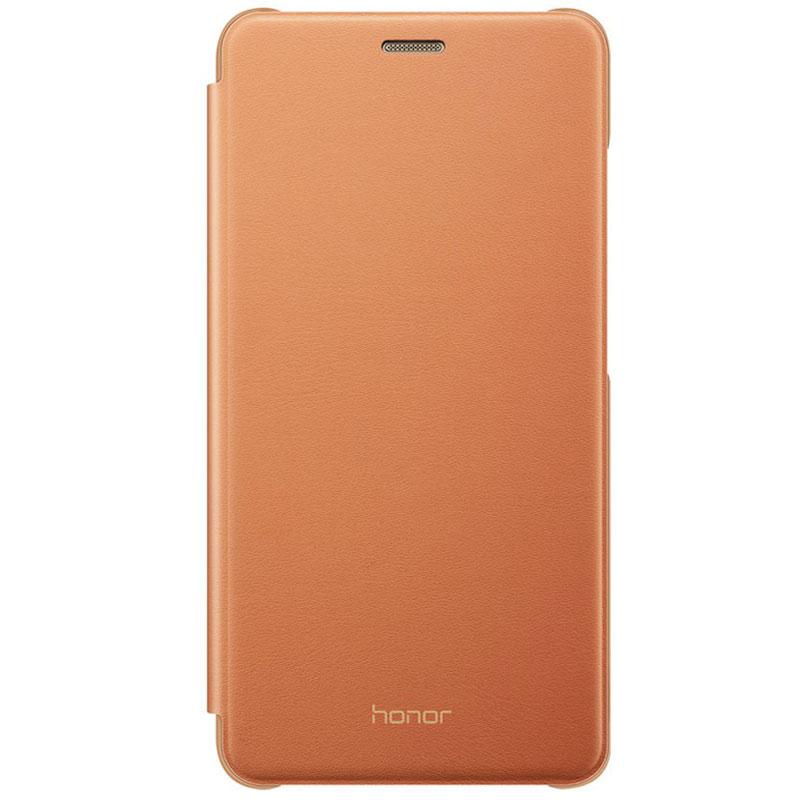 Honor flip cover marron honor 5c etui t l phone honor for Housse honor 5c