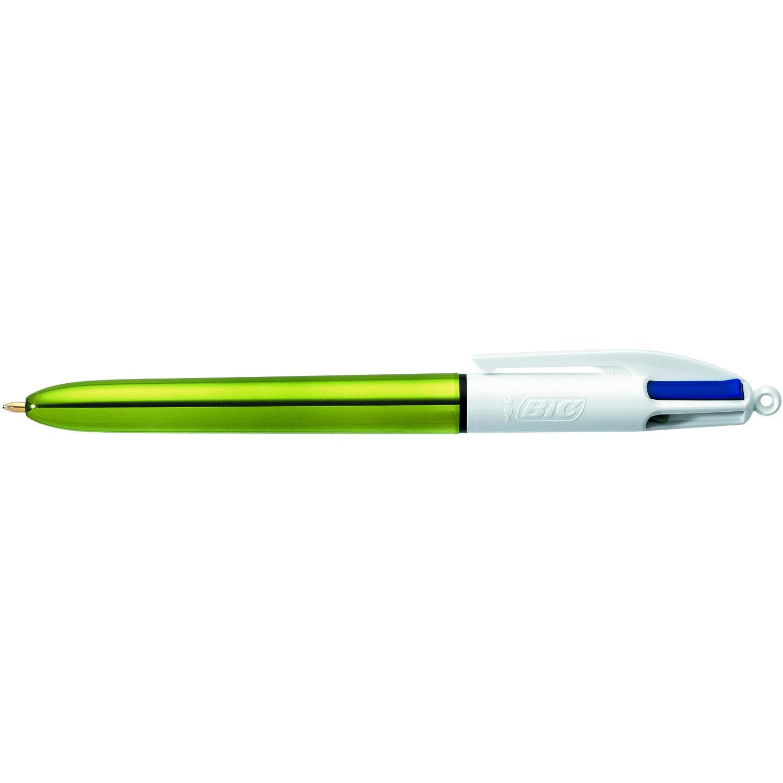 Stylo & feutre BIC 4 couleurs Shine Stylo bille 4 en 1 avec pointe moyenne 1 mm