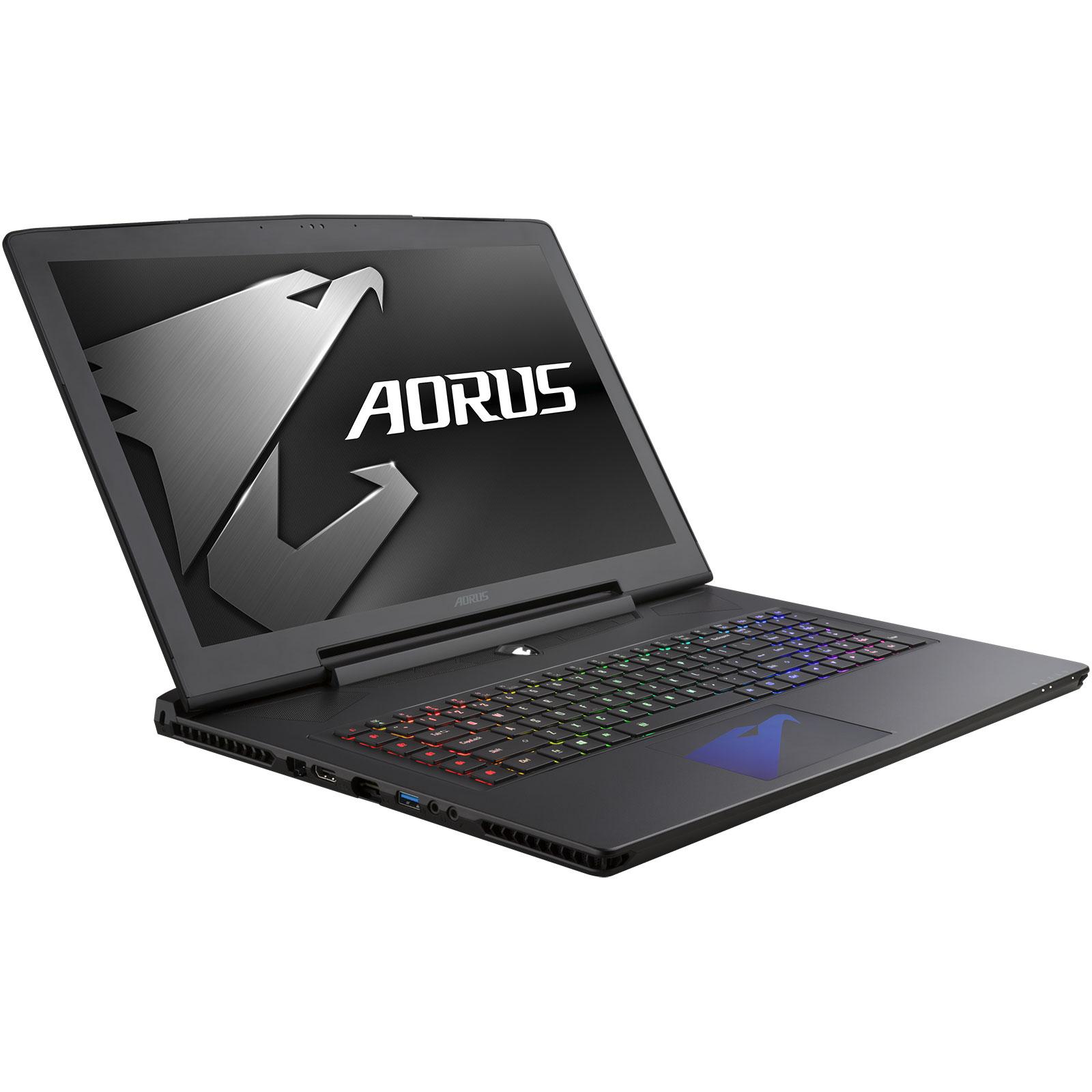 "PC portable AORUS X5 v6 K1NW10-FR Intel Core i7-6820HK 16 Go SSD 256 Go + HDD 1 To 15.6"" LED G-SYNC NVIDIA GeForce GTX 1070 8 Go Wi-Fi AC/Bluetooth Webcam Windows 10 Famille 64 bits"