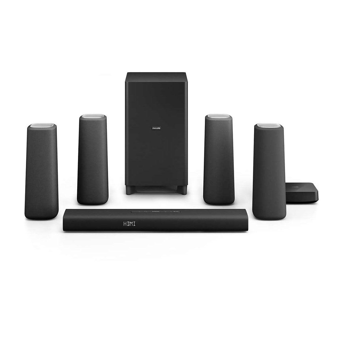 Ensemble home cinéma Philips CSS5530 Noir Ensemble home cinéma sans fil 5.1 Dolby Digital / Pro Logic II avec Bluetooth et NFC