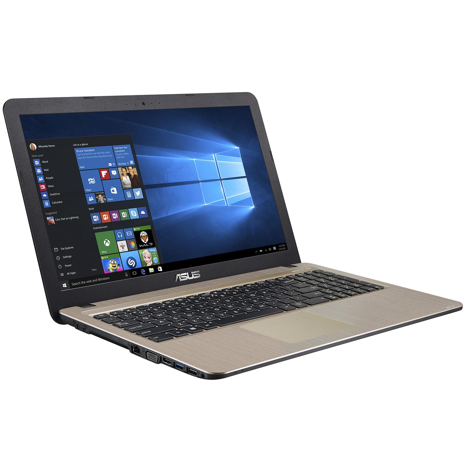 """PC portable ASUS R540LA-XX342T Intel Core i3-5005U 4 Go 1 To 15.6"""" LED HD Graveur DVD Wi-Fi N/Bluetooth Webcam Windows 10 Famille 64 bits (garantie constructeur 2 ans)"""