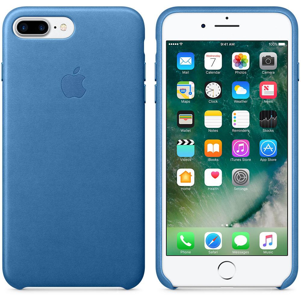 Etui téléphone Apple Coque en cuir Bleu Méditerranée Apple iPhone 7 Plus  Coque en cuir pour Apple iPhone 7 Plus