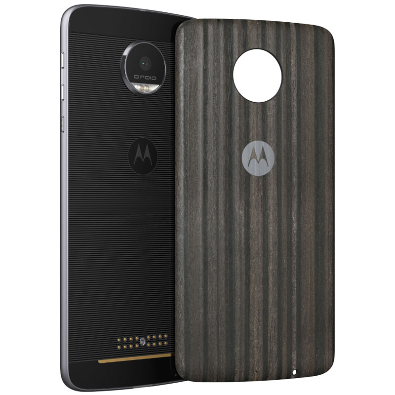 Motorola Mods Coque Charbon De Bois Moto Z Z Play Etui