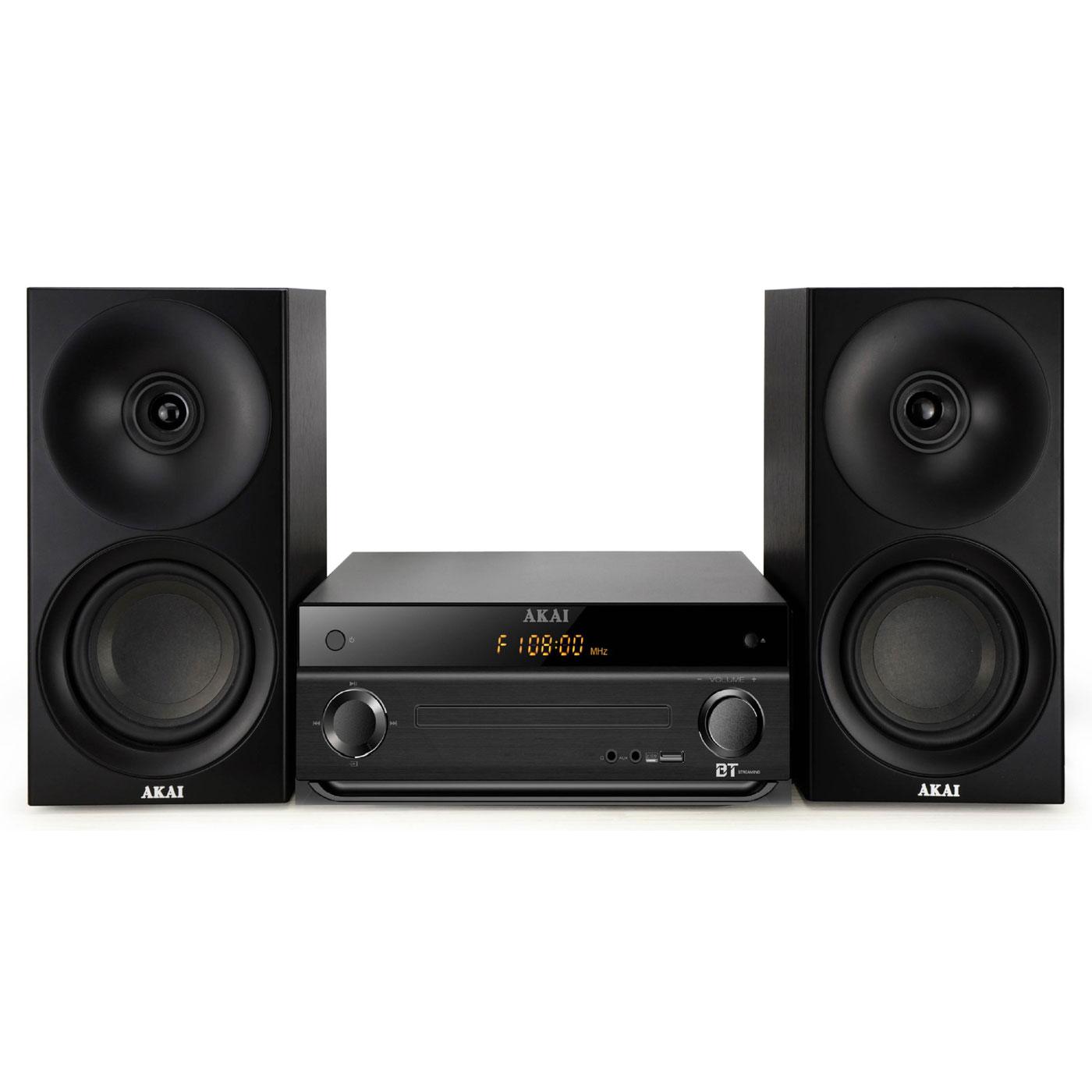 Chaîne Hifi Akai AM-301K Noir Micro-chaîne CD MP3 Bluetooth et USB